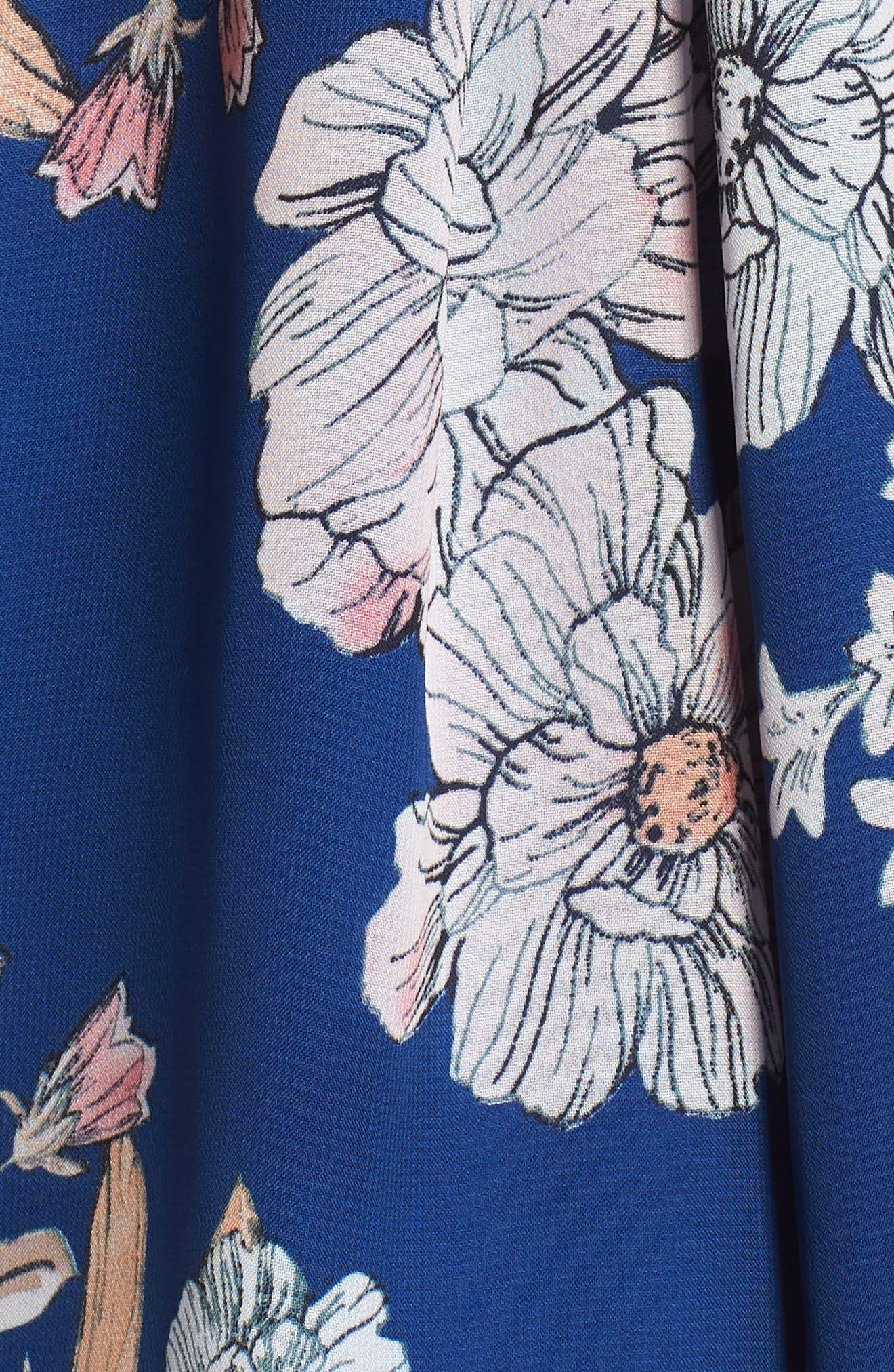 Starlet Romper,                             Alternate thumbnail 5, color,                             Blue Floral