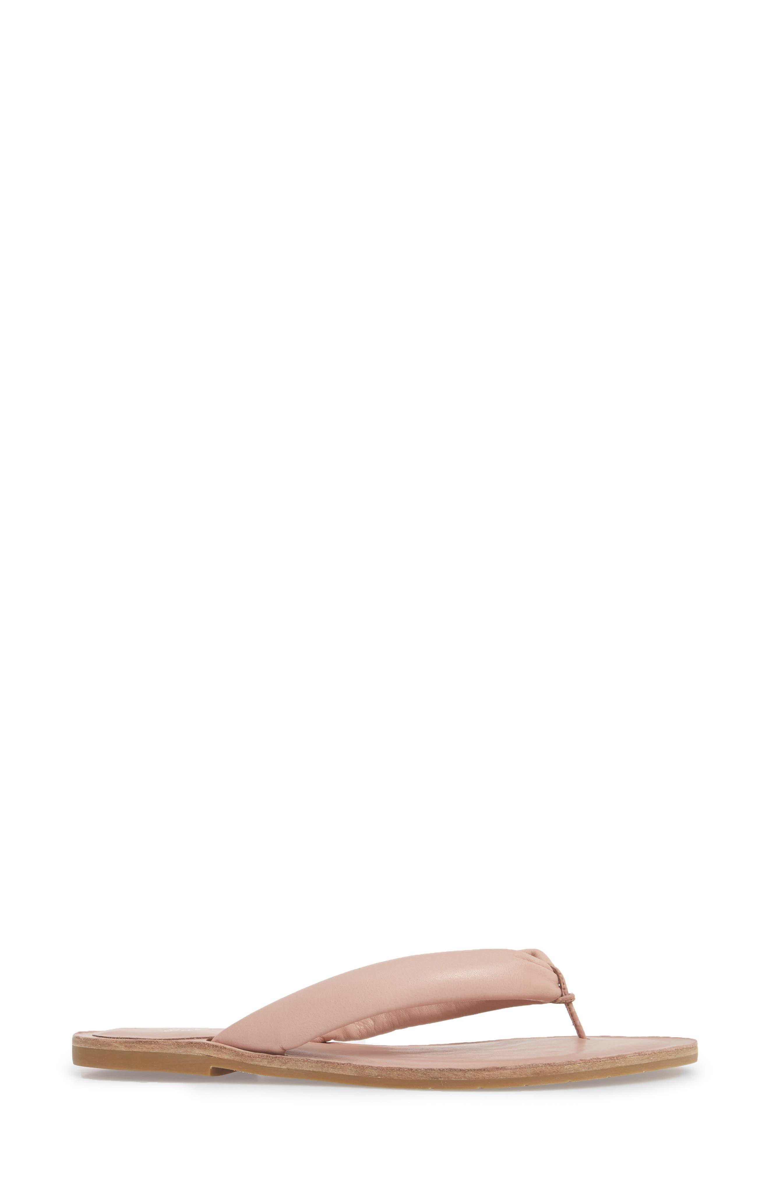 Flute Flip Flop,                             Alternate thumbnail 3, color,                             Dusty Rose Leather