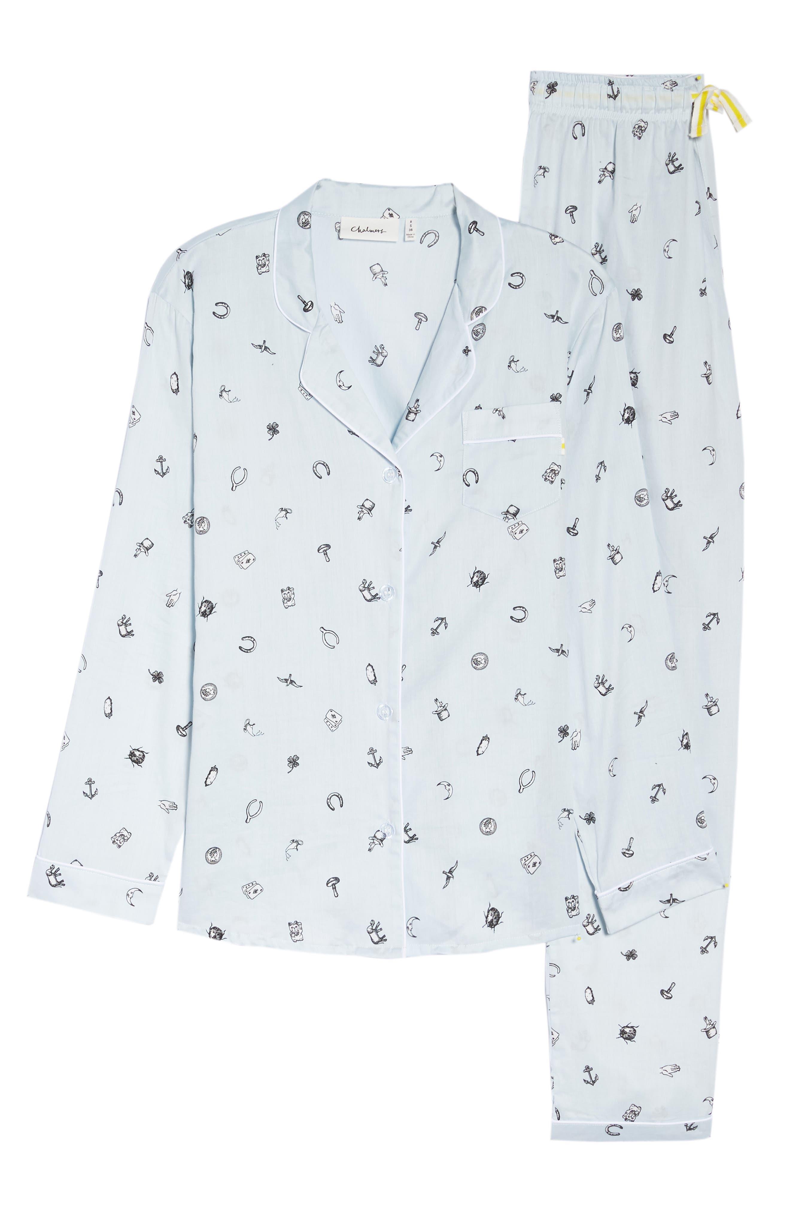 Charms Pajamas,                             Alternate thumbnail 4, color,                             Charms Lt Blue