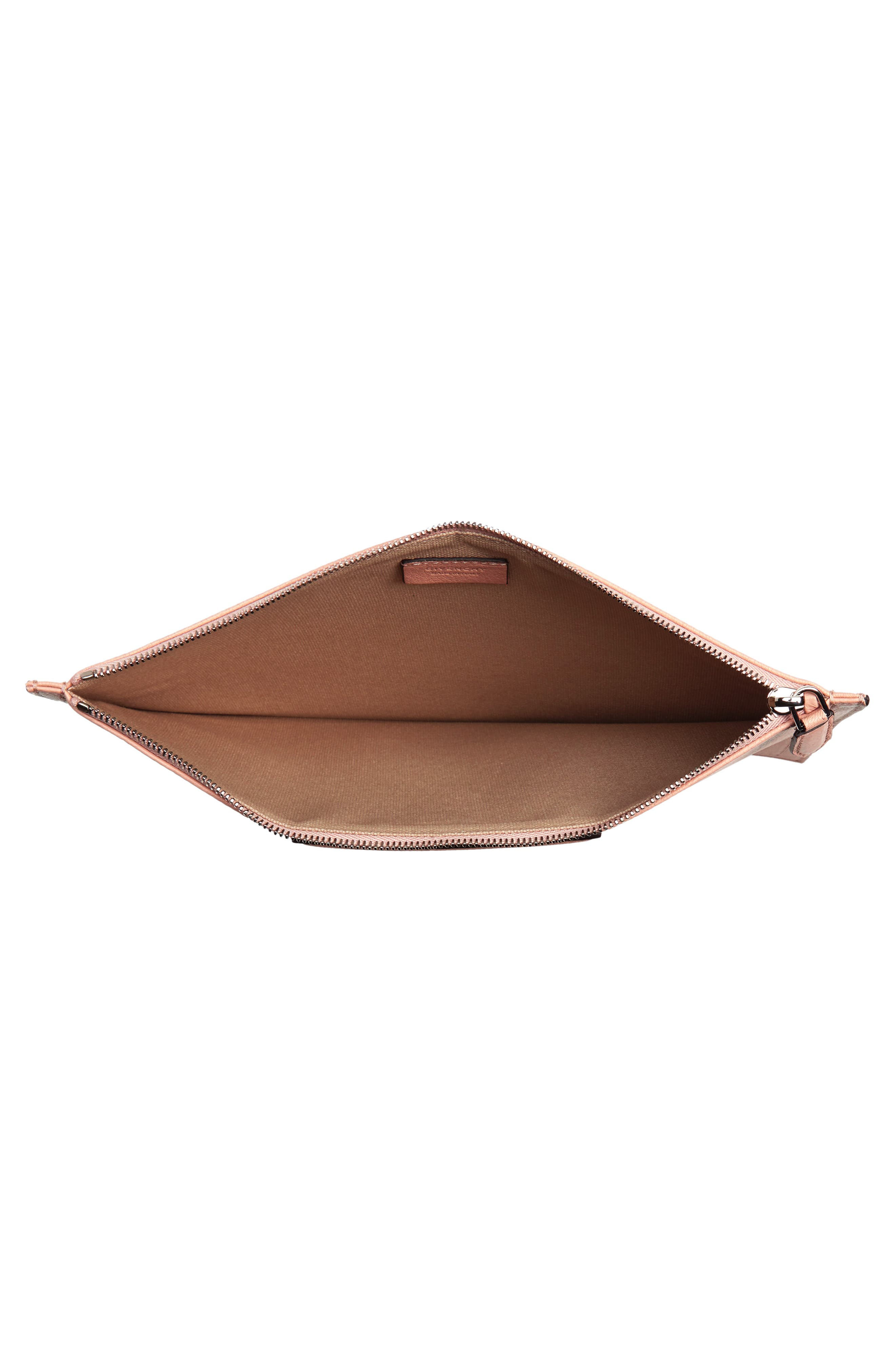 Medium Antigona Leather Pouch,                             Alternate thumbnail 4, color,                             Powder