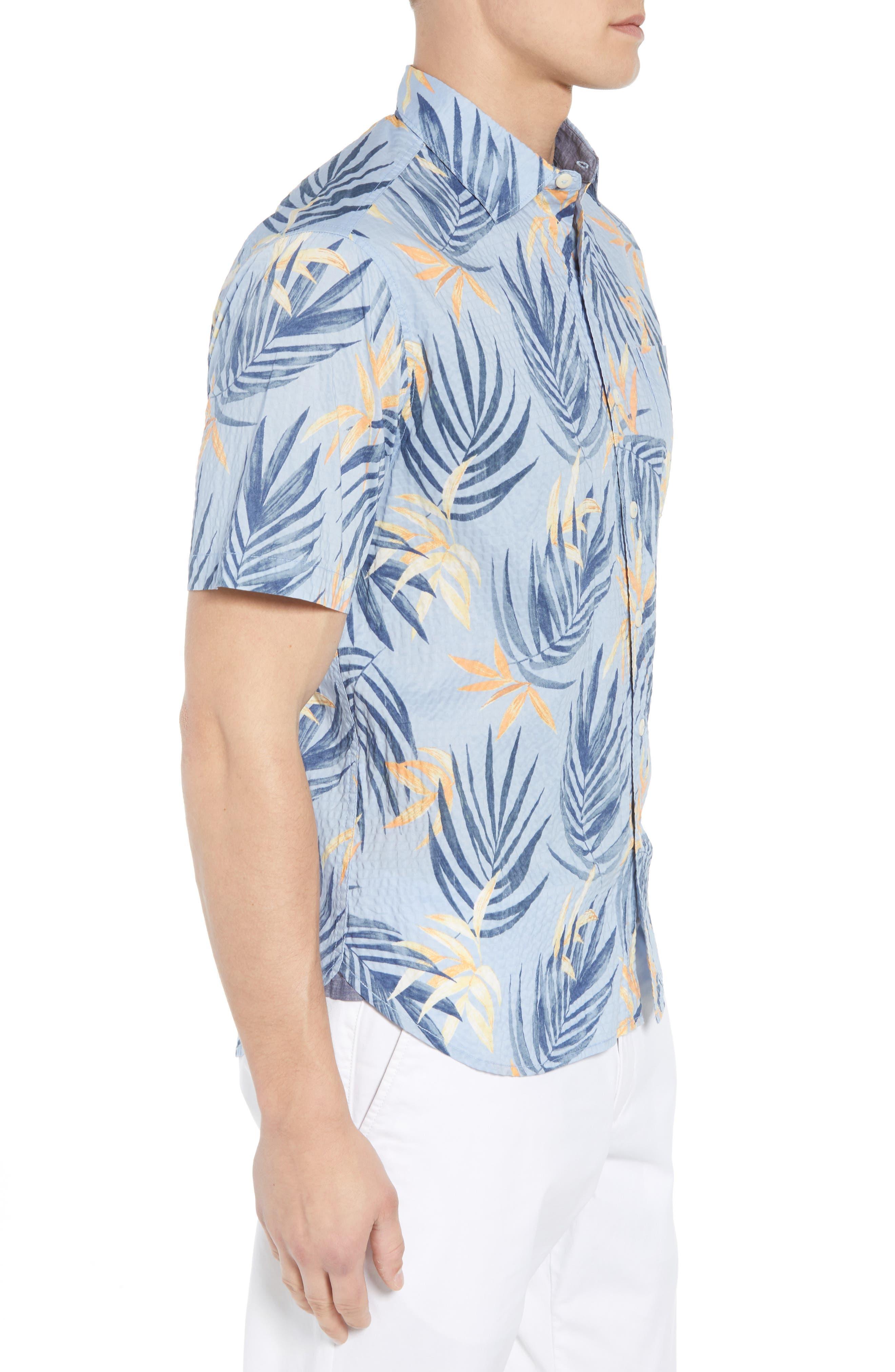 Alternate Image 4  - Tommy Bahama Fiesta Fronds Seersucker Sport Shirt