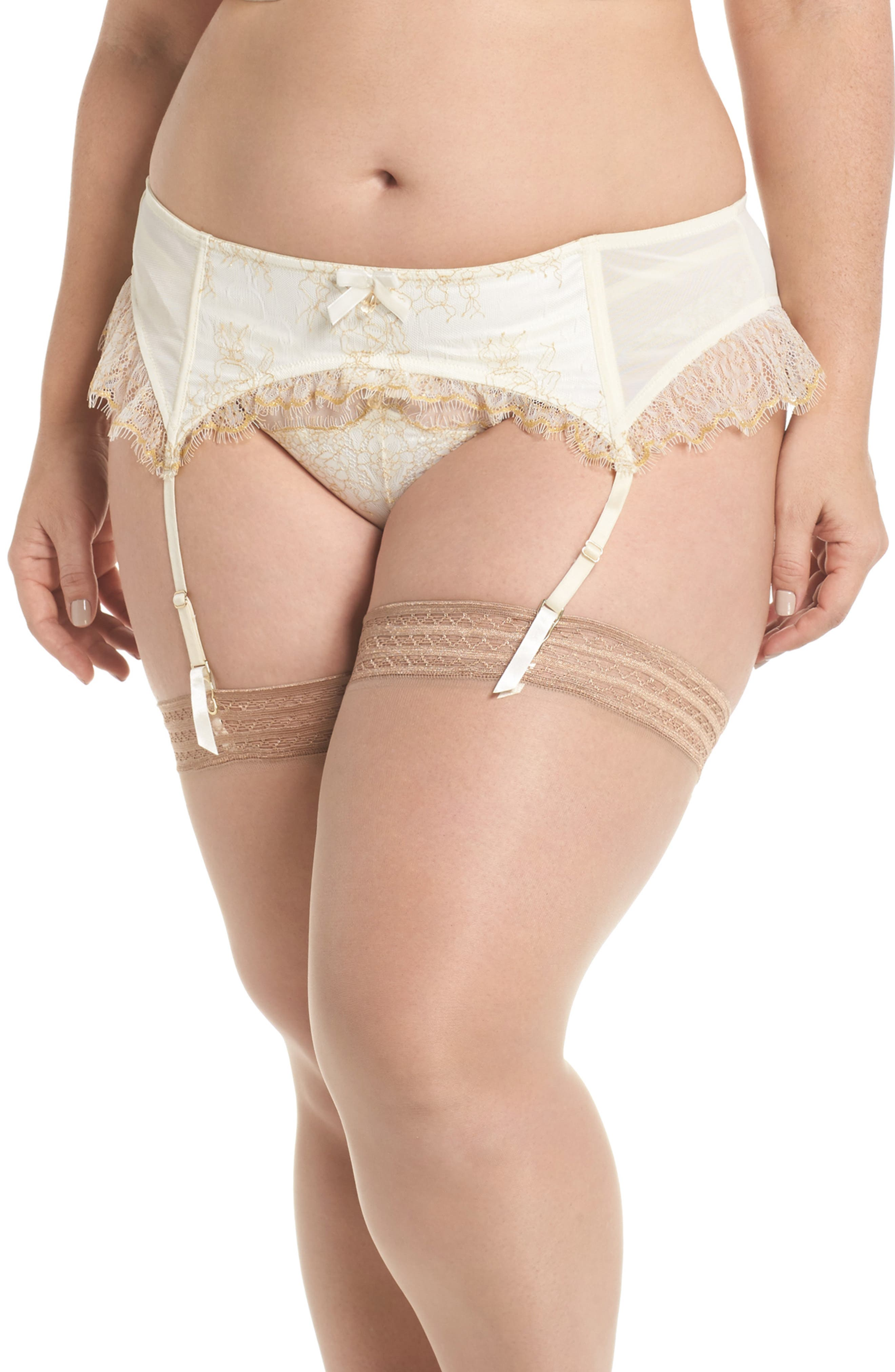 Playful Promises Karine Lace Garter Belt (Plus Size)