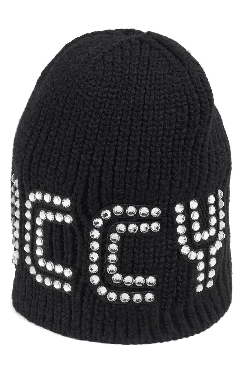 9a19eef8 Gucci Game Guccy Rib-Knit Wool Beanie Hat In 1000 Black   ModeSens
