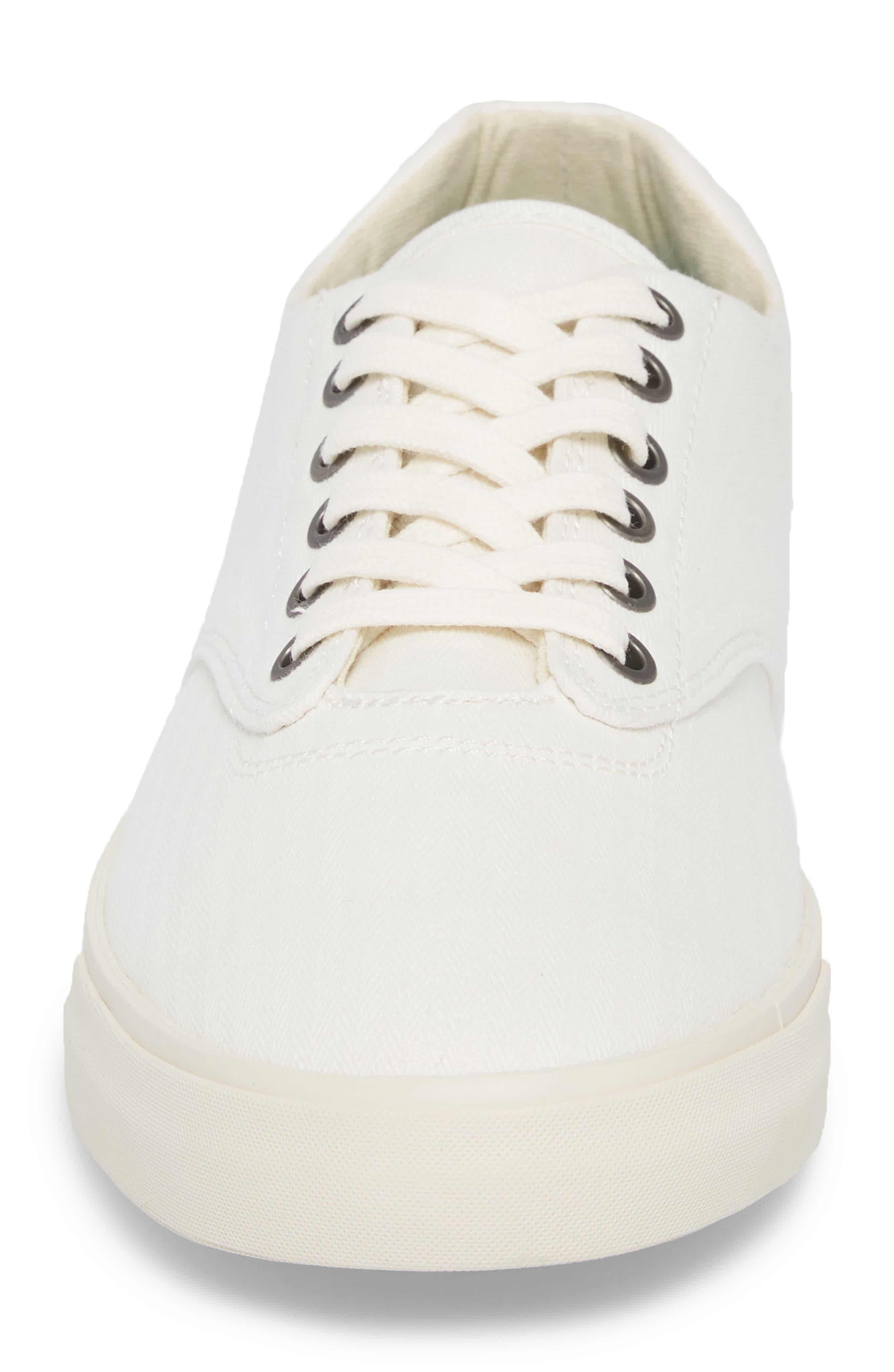 Hermosa Plimsoll Sneaker,                             Alternate thumbnail 4, color,                             Bleach White