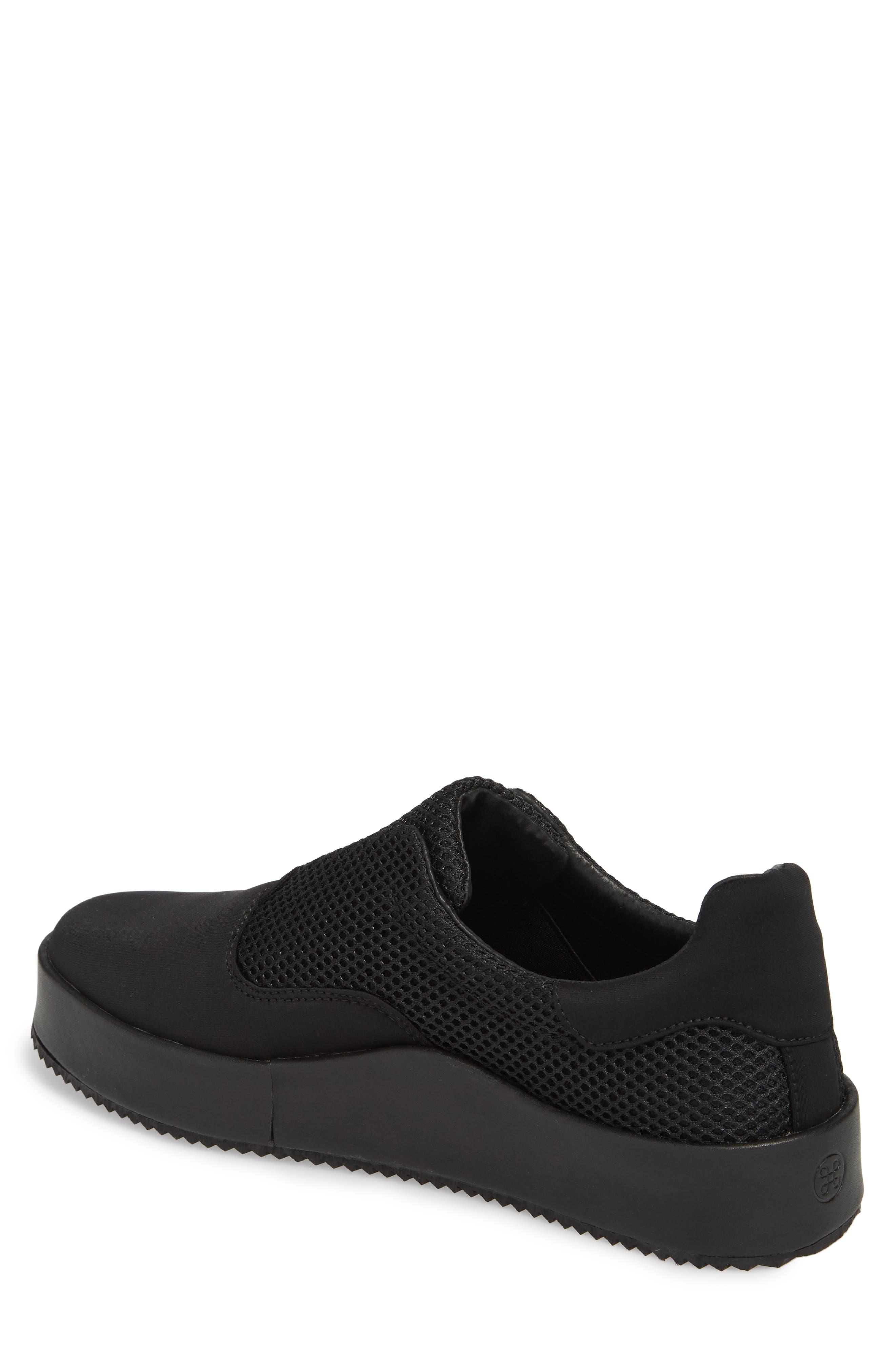 Core Neoprene Skater Laceless Sneaker,                             Alternate thumbnail 2, color,                             Black Neoprene Fabric