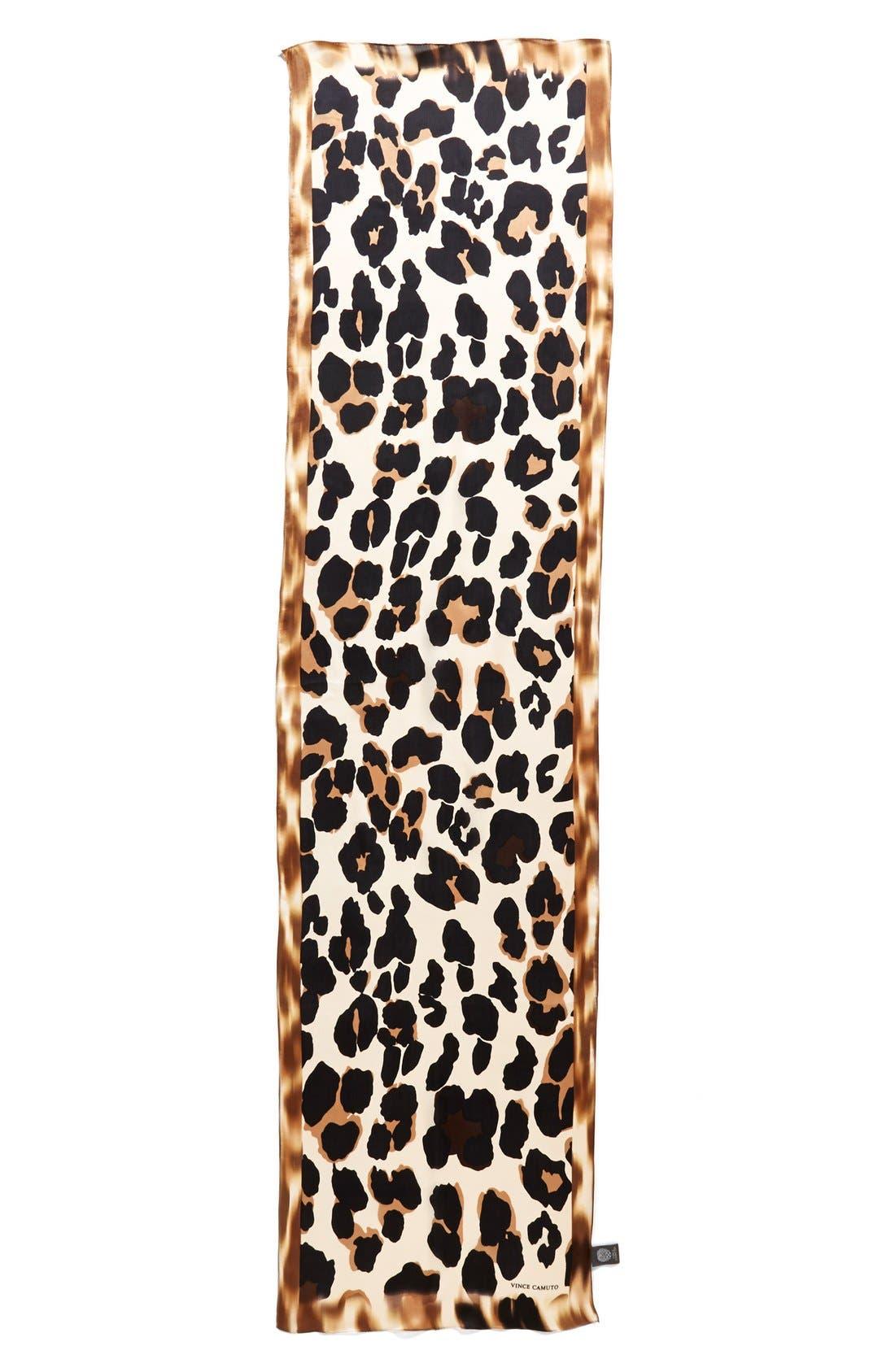 Alternate Image 2  - Collection XIIX 'Blur Cheetah' Silk Scarf