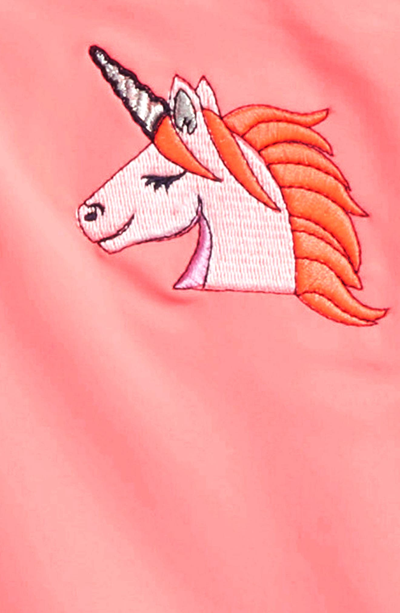 Unicorn Two-Piece Rashguard,                             Alternate thumbnail 2, color,                             Coral