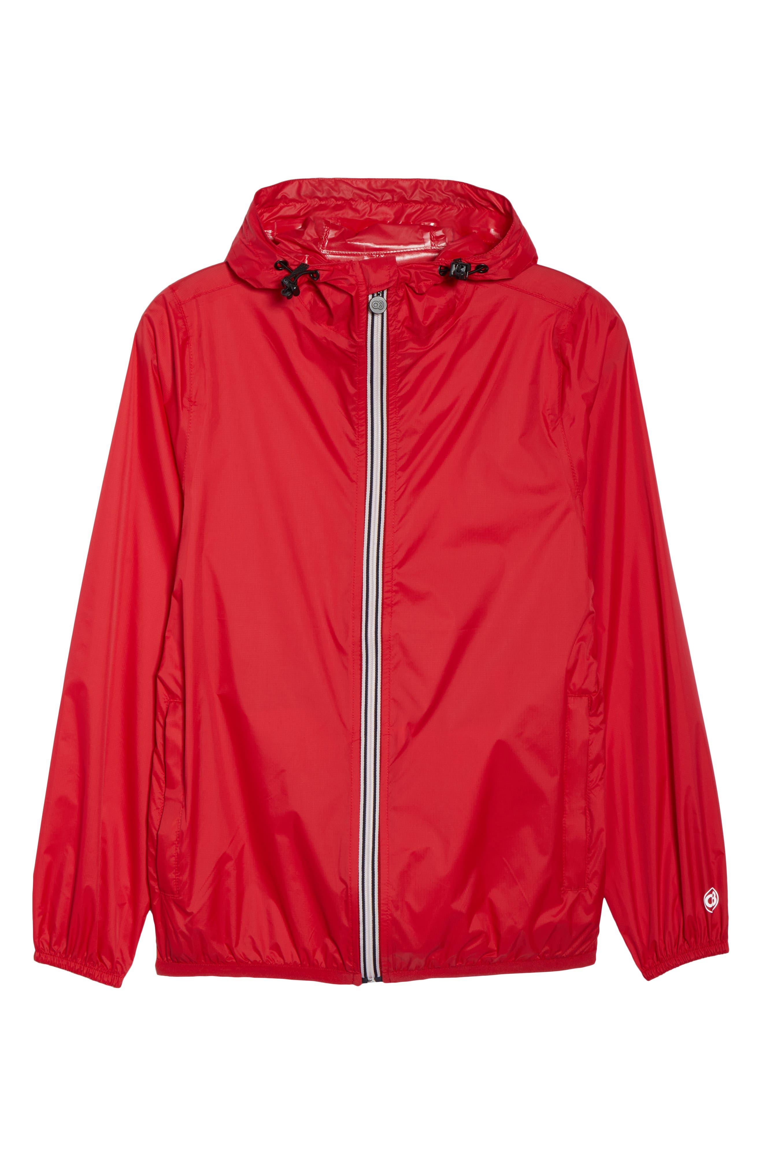 Packable Rain Jacket,                             Alternate thumbnail 8, color,                             Red