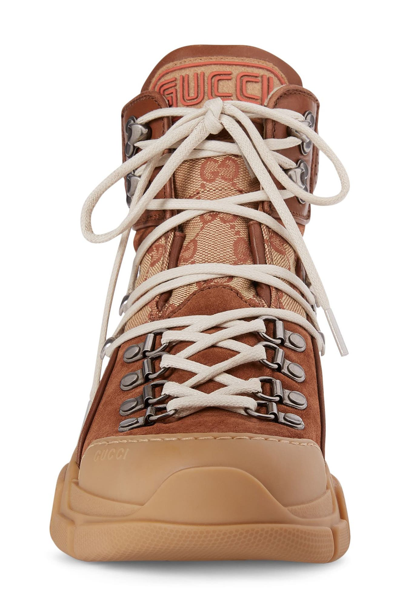Lace-Up Boot,                             Alternate thumbnail 3, color,                             Brown