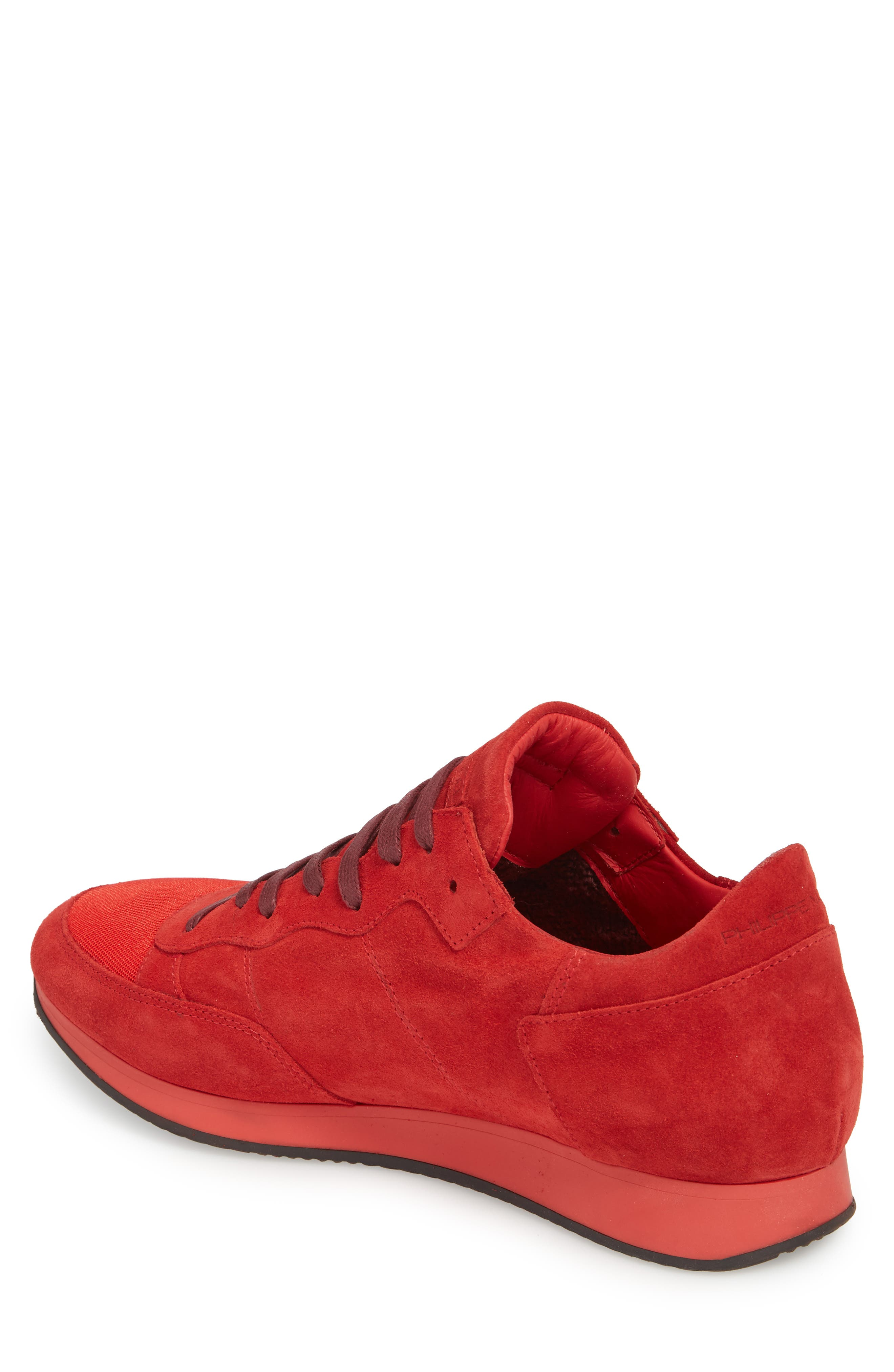 Tropez Low Top Sneaker,                             Alternate thumbnail 2, color,                             Red Suede