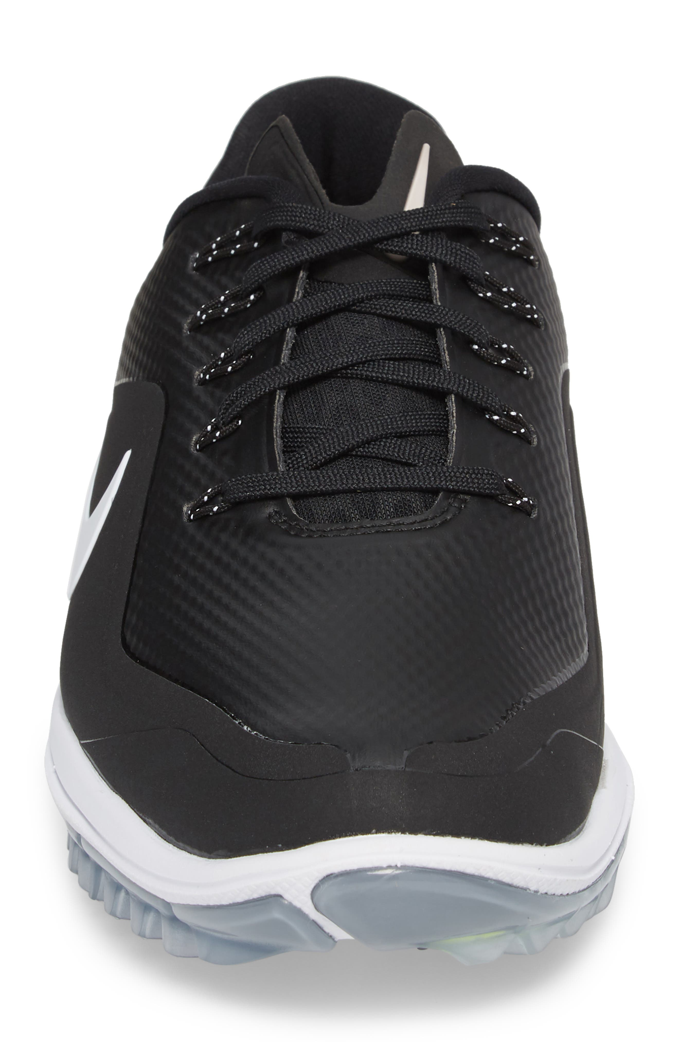 Lunar Control Vapor 2 Waterproof Golf Shoe,                             Alternate thumbnail 4, color,                             Black/ White-Cool Grey