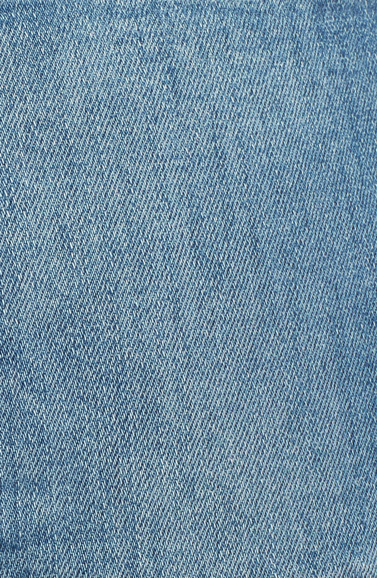 Ripped Ankle Skinny Jeans,                             Alternate thumbnail 6, color,                             Symphony Blue