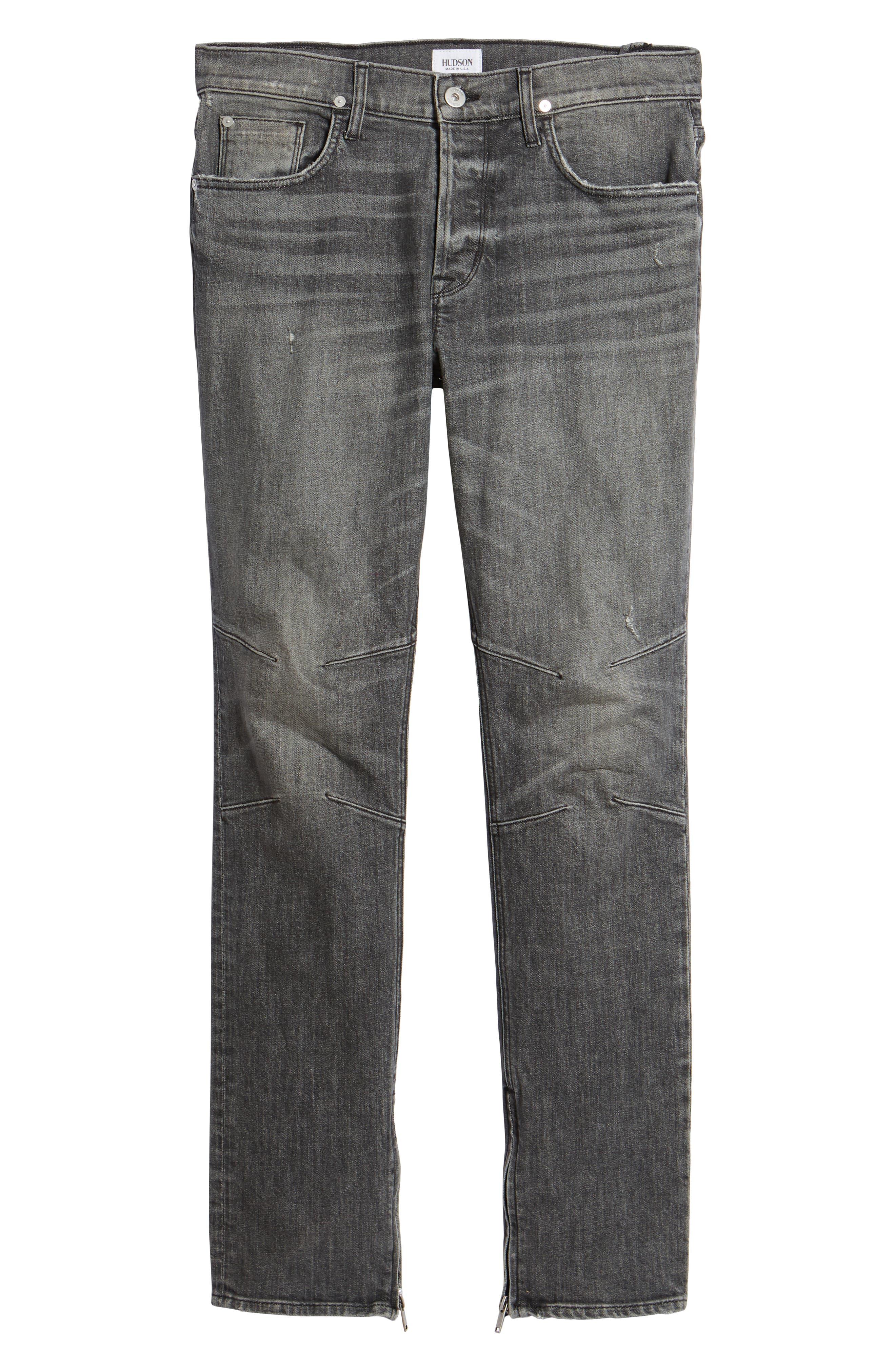 Vaughn Biker Skinny Fit Jeans,                             Alternate thumbnail 6, color,                             Kingpin