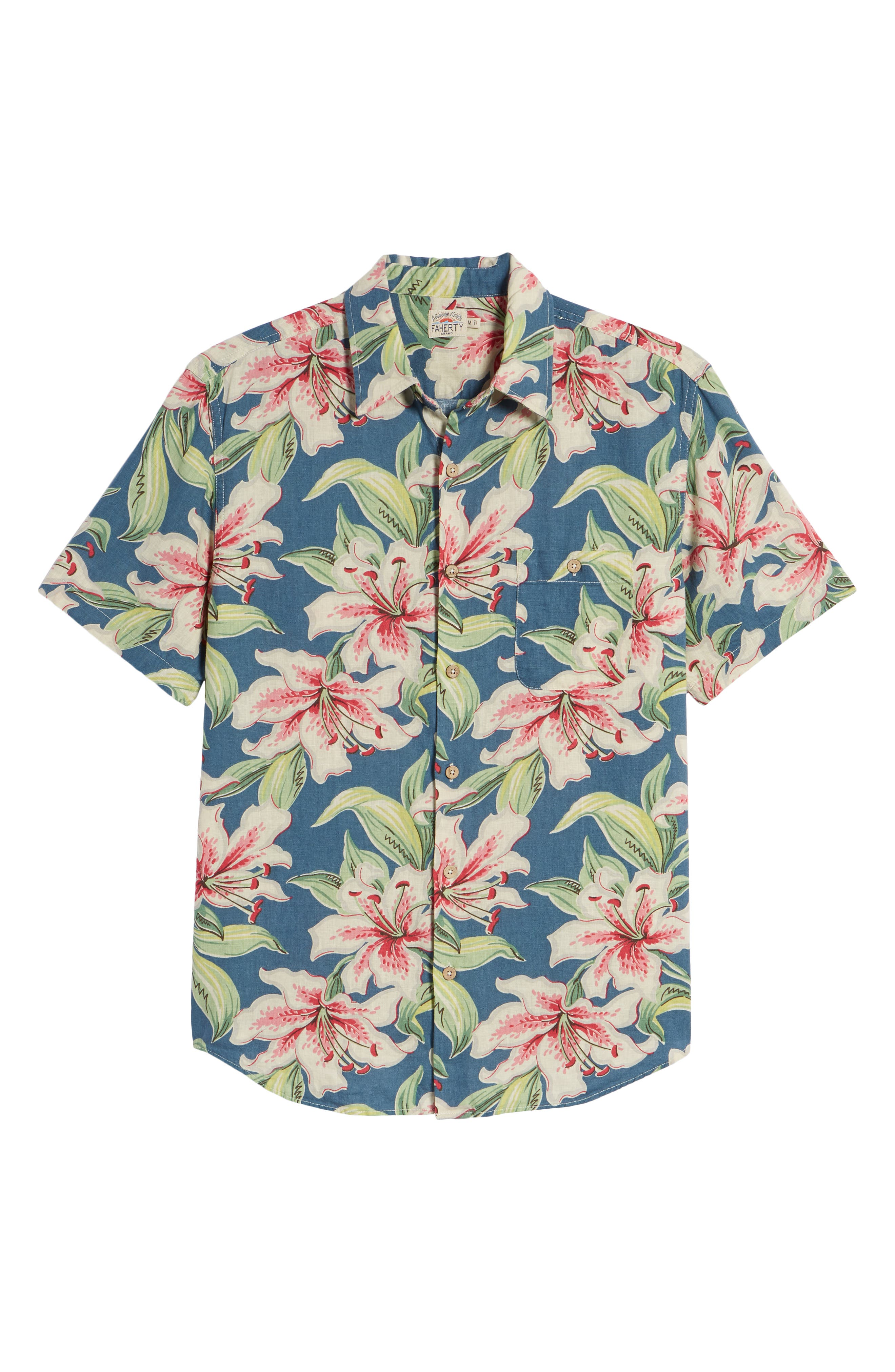 Tropical Atoll Sport Shirt,                             Alternate thumbnail 6, color,                             Hibiscus Hawaiian