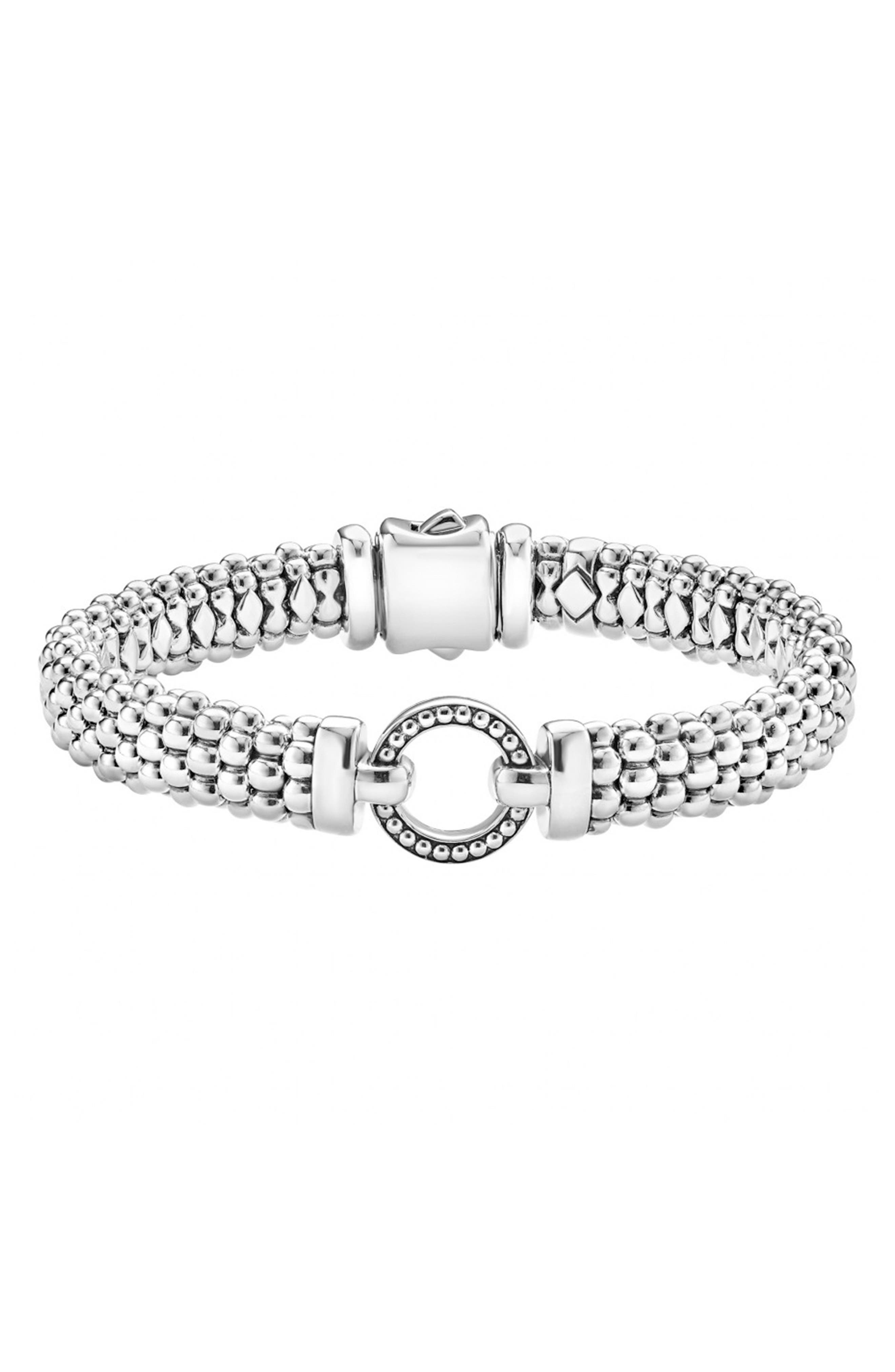 'Enso' Caviar<sup>™</sup> Rope Bracelet,                             Main thumbnail 1, color,                             Silver
