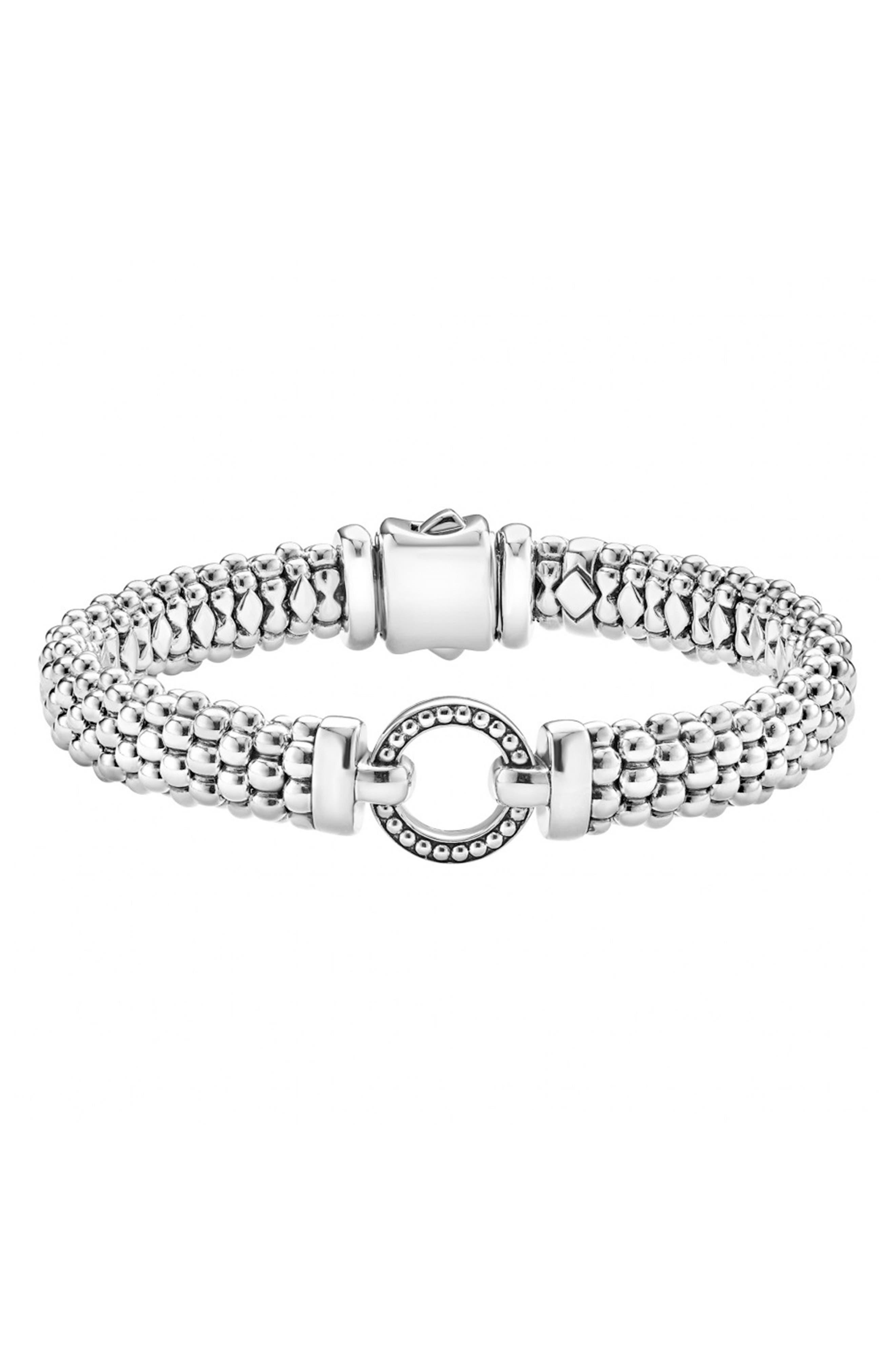 'Enso' Caviar<sup>™</sup> Rope Bracelet,                         Main,                         color, Silver