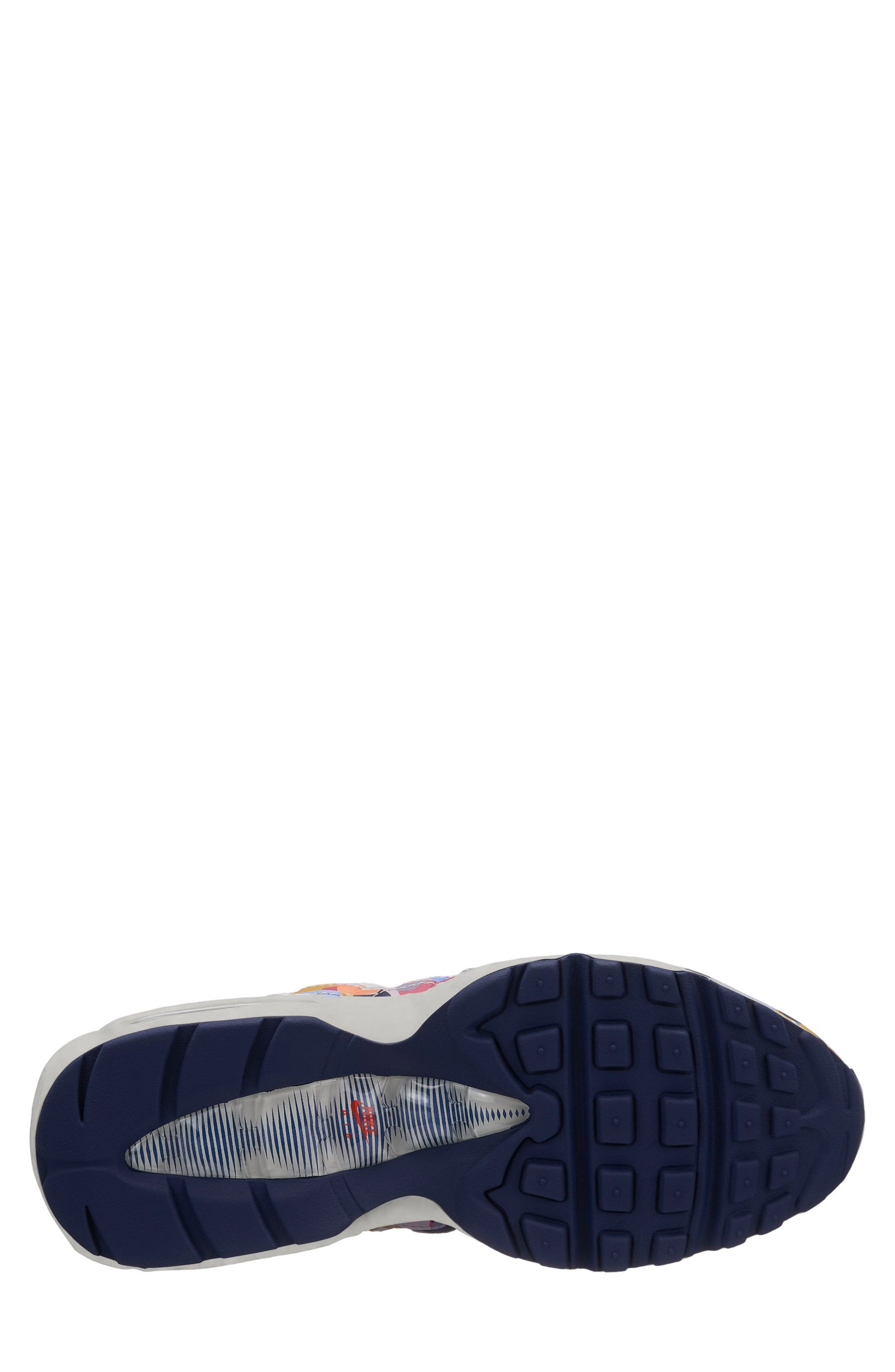 Air Max 95 SE Running Shoe,                             Alternate thumbnail 2, color,                             Grey/ Navy/ Red
