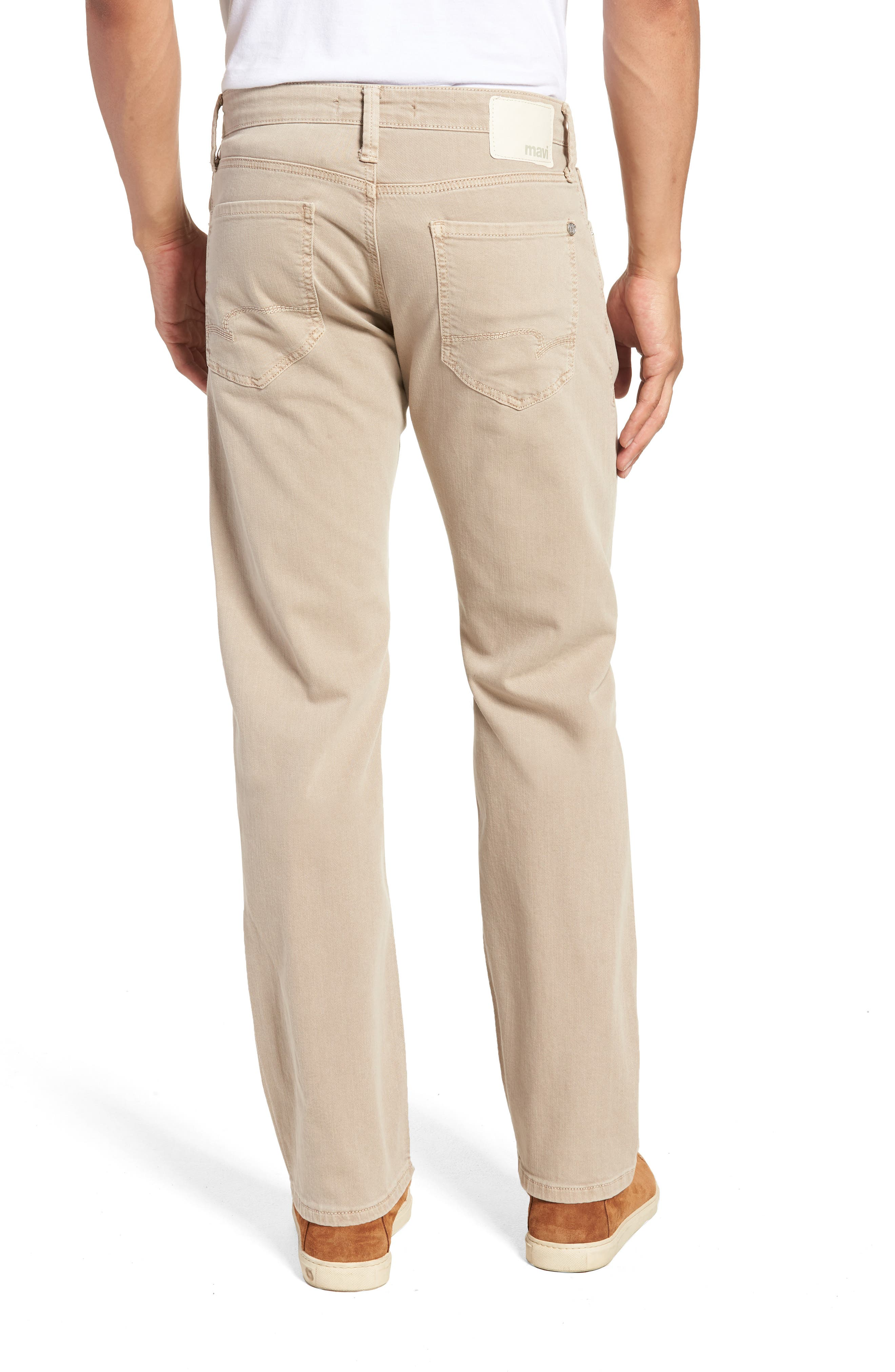 Zach Straight Leg Twill Pants,                             Alternate thumbnail 2, color,                             Tan Washed