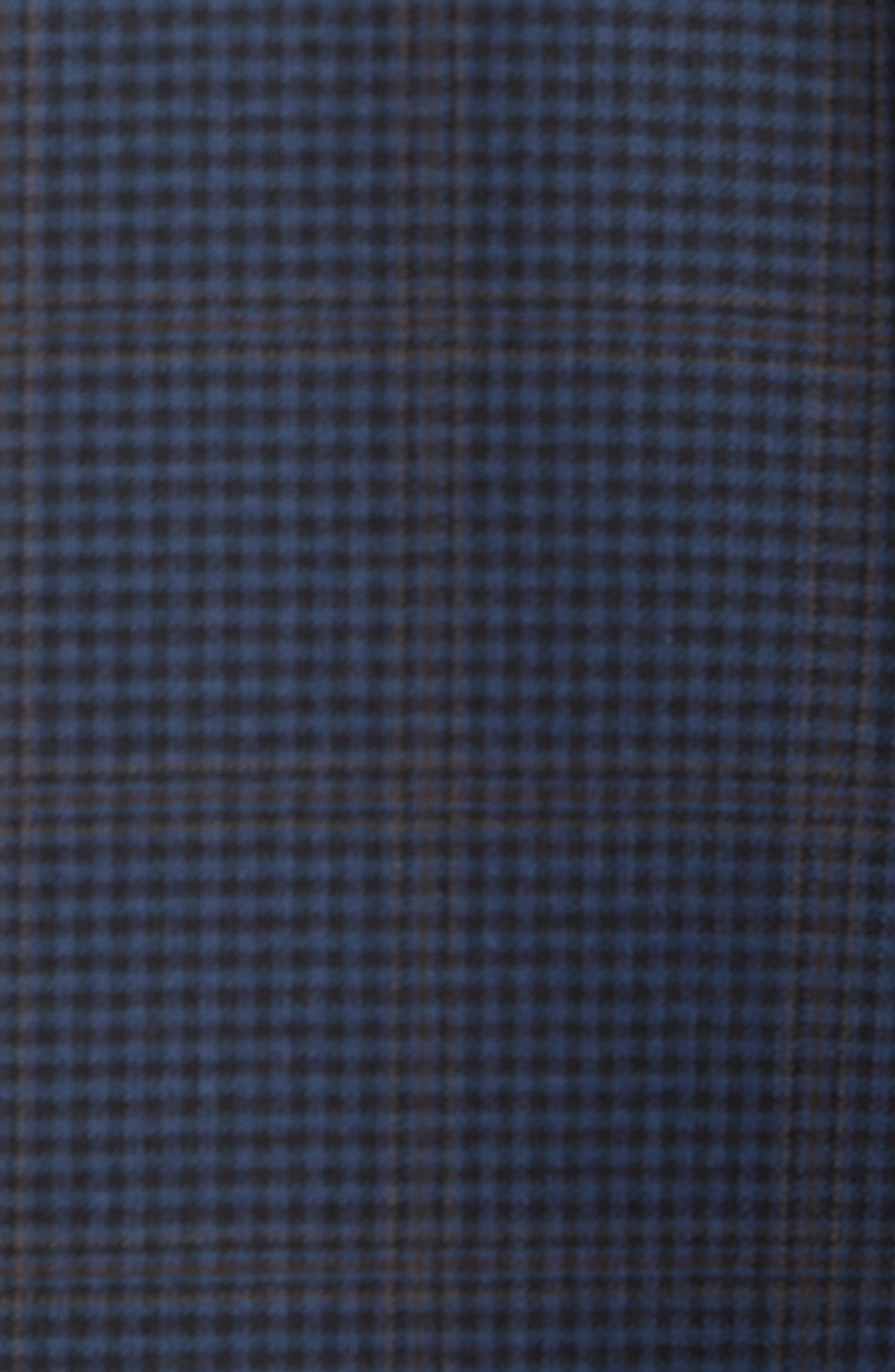 Jay Trim Fit Houndstooth Wool Sport Coat,                             Alternate thumbnail 5, color,                             Blue