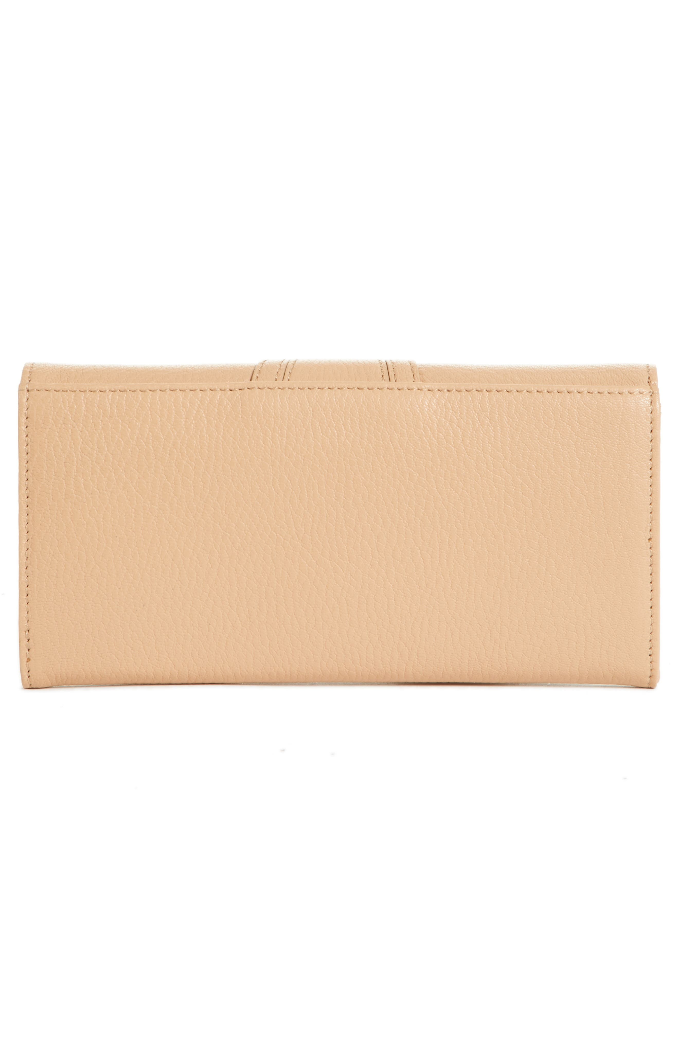 Hana Large Leather Wallet,                             Alternate thumbnail 4, color,                             Blush Nude