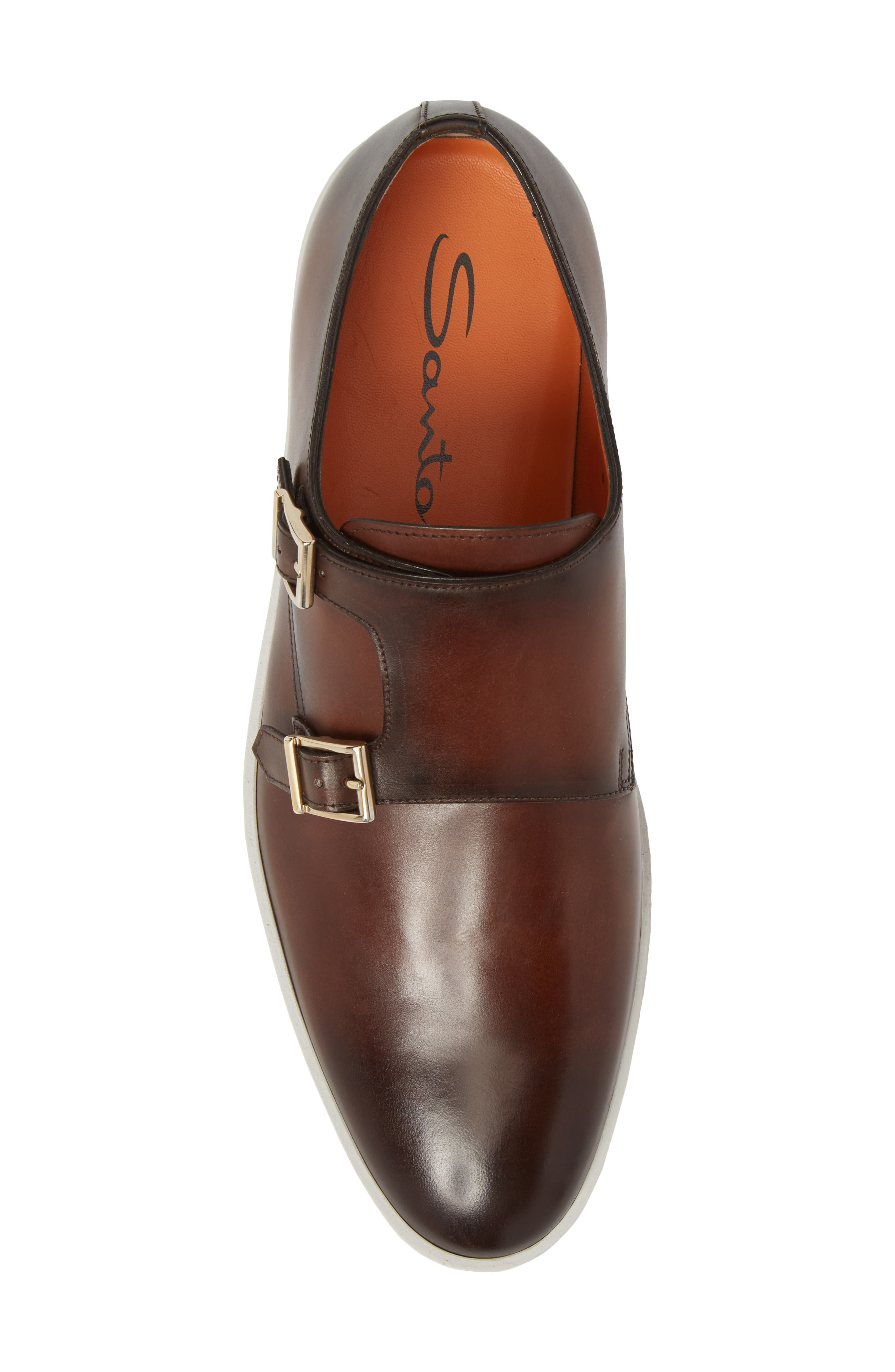 Freemont Double Monk Strap Shoe,                             Alternate thumbnail 5, color,                             Brown