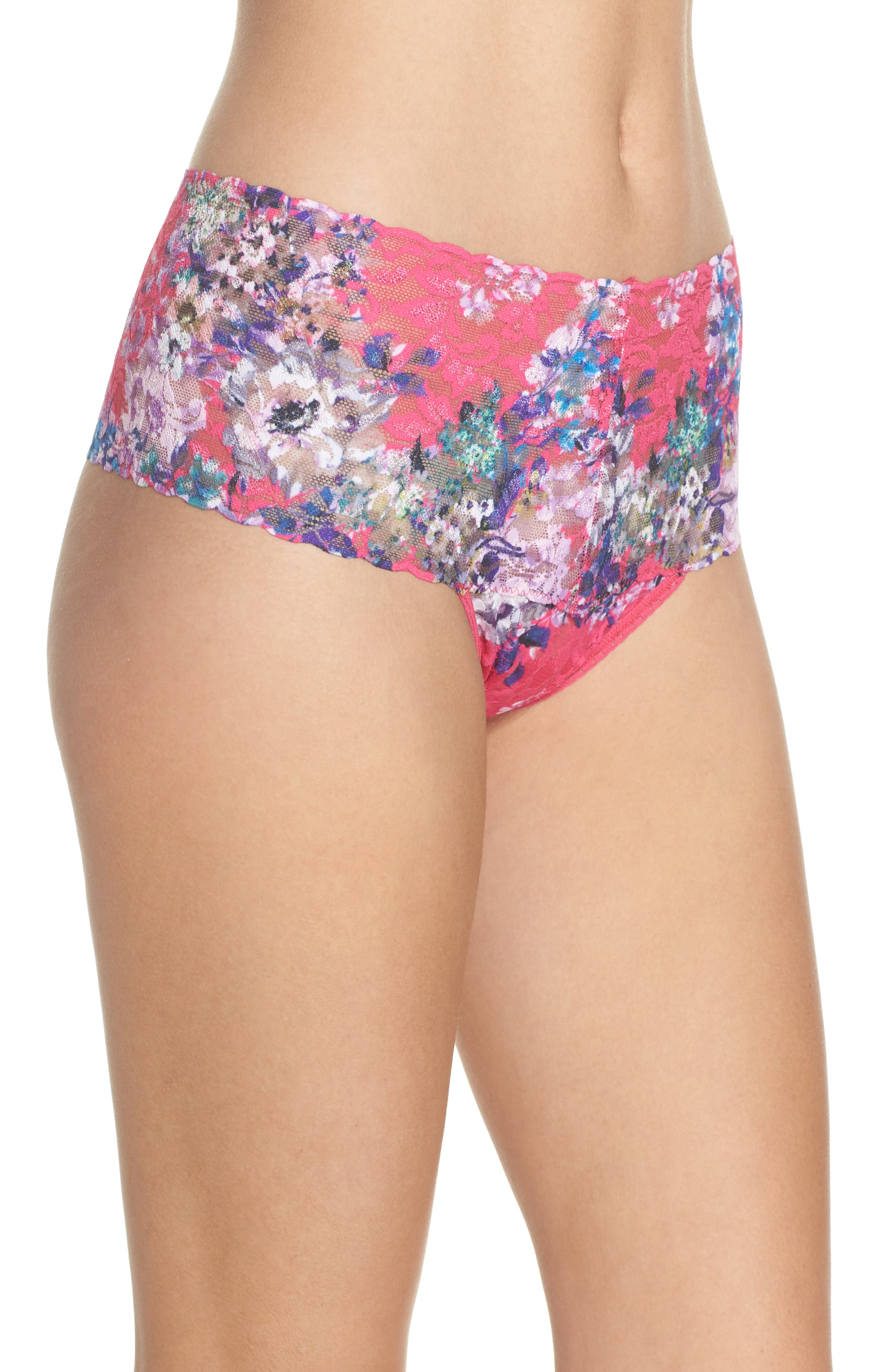 Print Retro Thong,                             Alternate thumbnail 3, color,                             Pretty In Peony