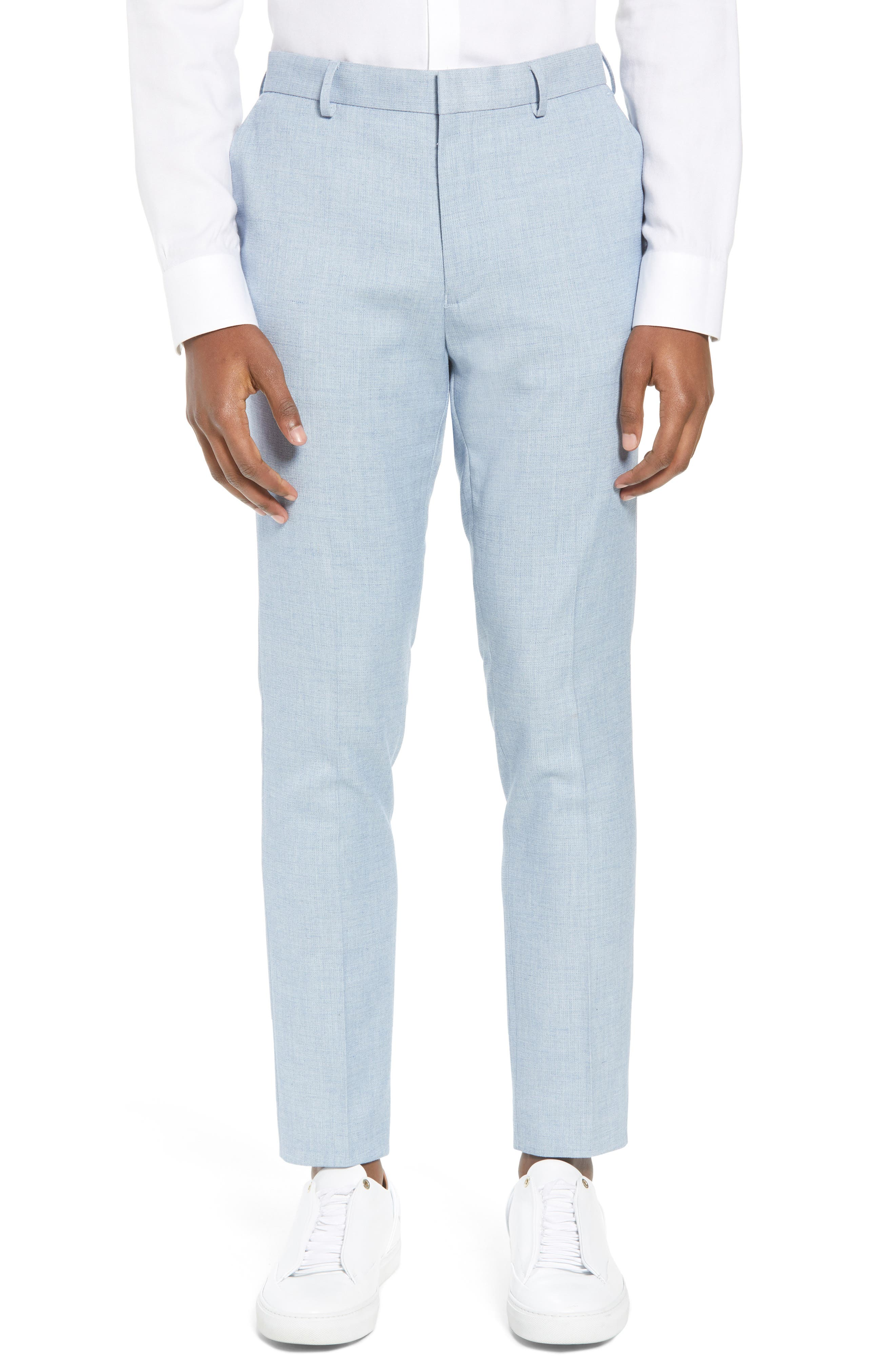 Stretch Skinny Fit Suit Trousers,                             Main thumbnail 1, color,                             Blue