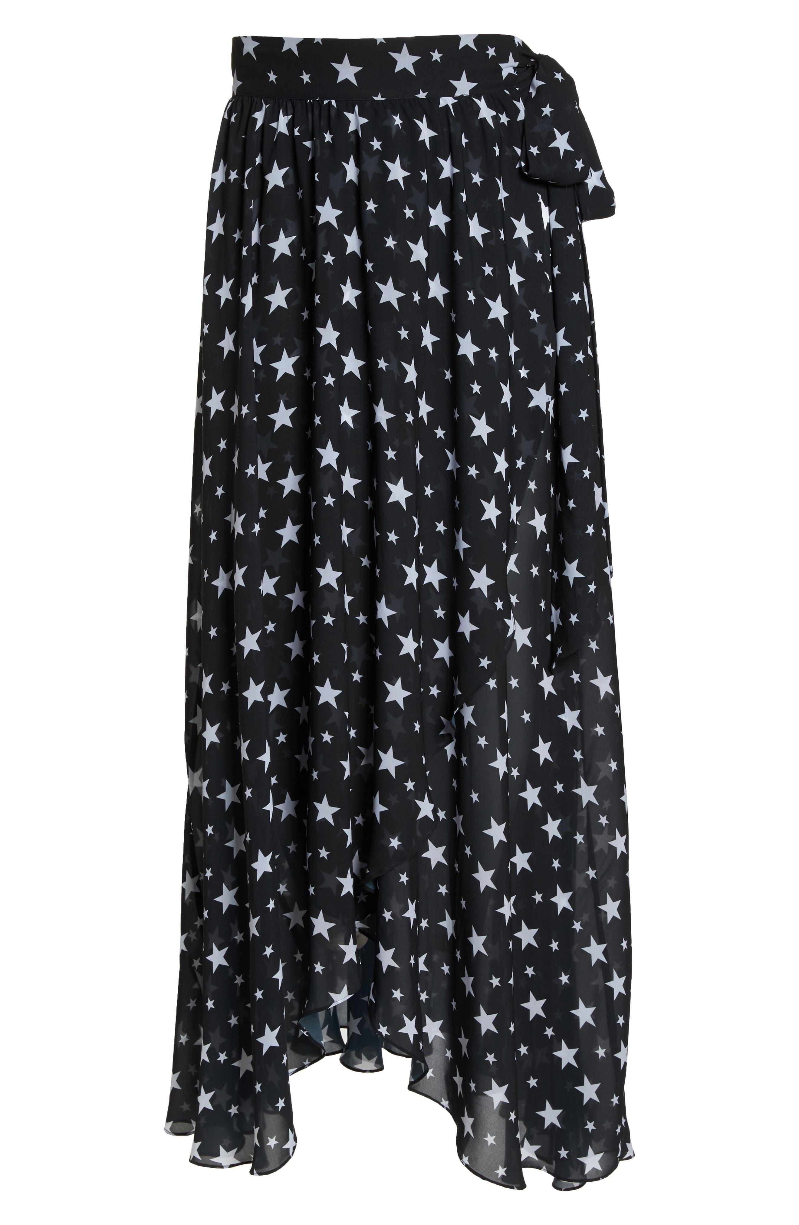 Cannes Cover-Up Skirt,                             Alternate thumbnail 6, color,                             Black Star