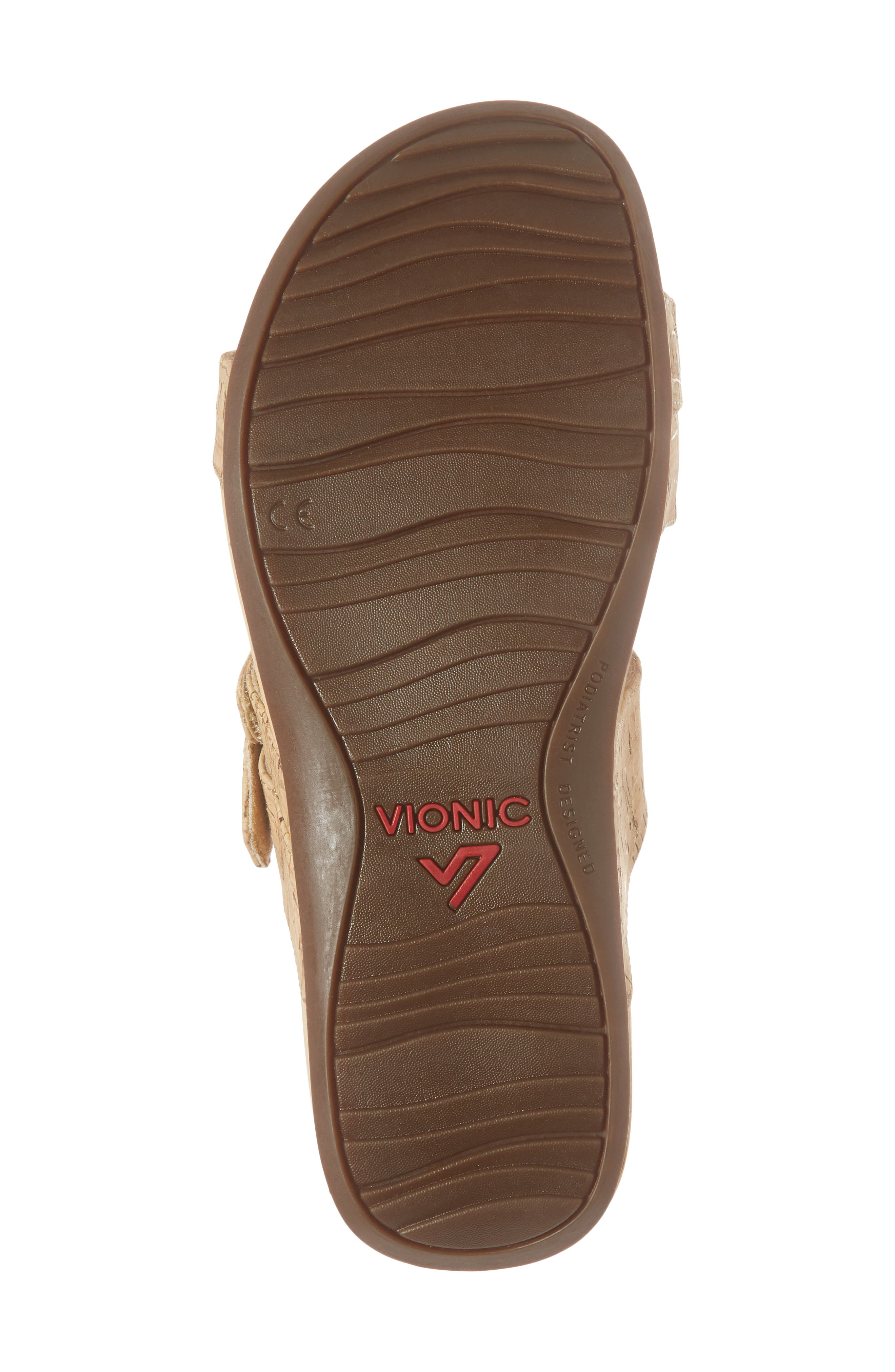 Rio Orthaheel<sup>®</sup> Slide Sandal,                             Alternate thumbnail 6, color,                             Gold Cork Fabric