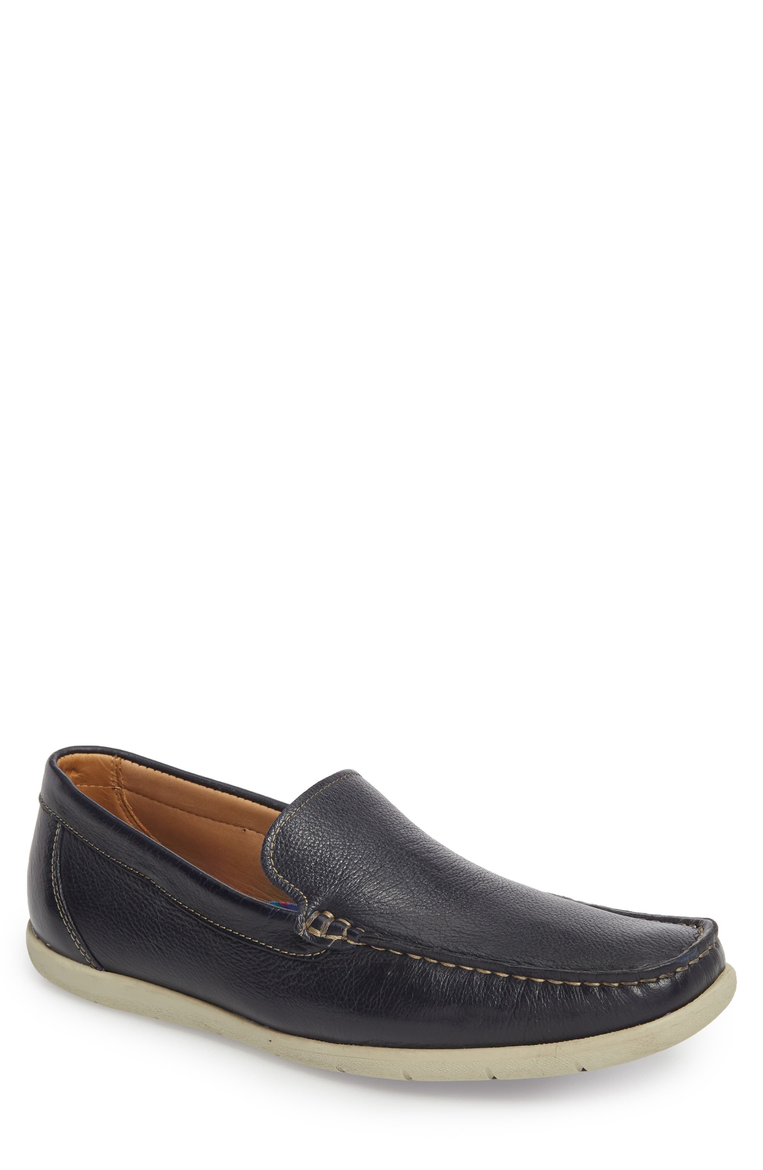 Calistoga Loafer,                             Main thumbnail 1, color,                             Navy Leather