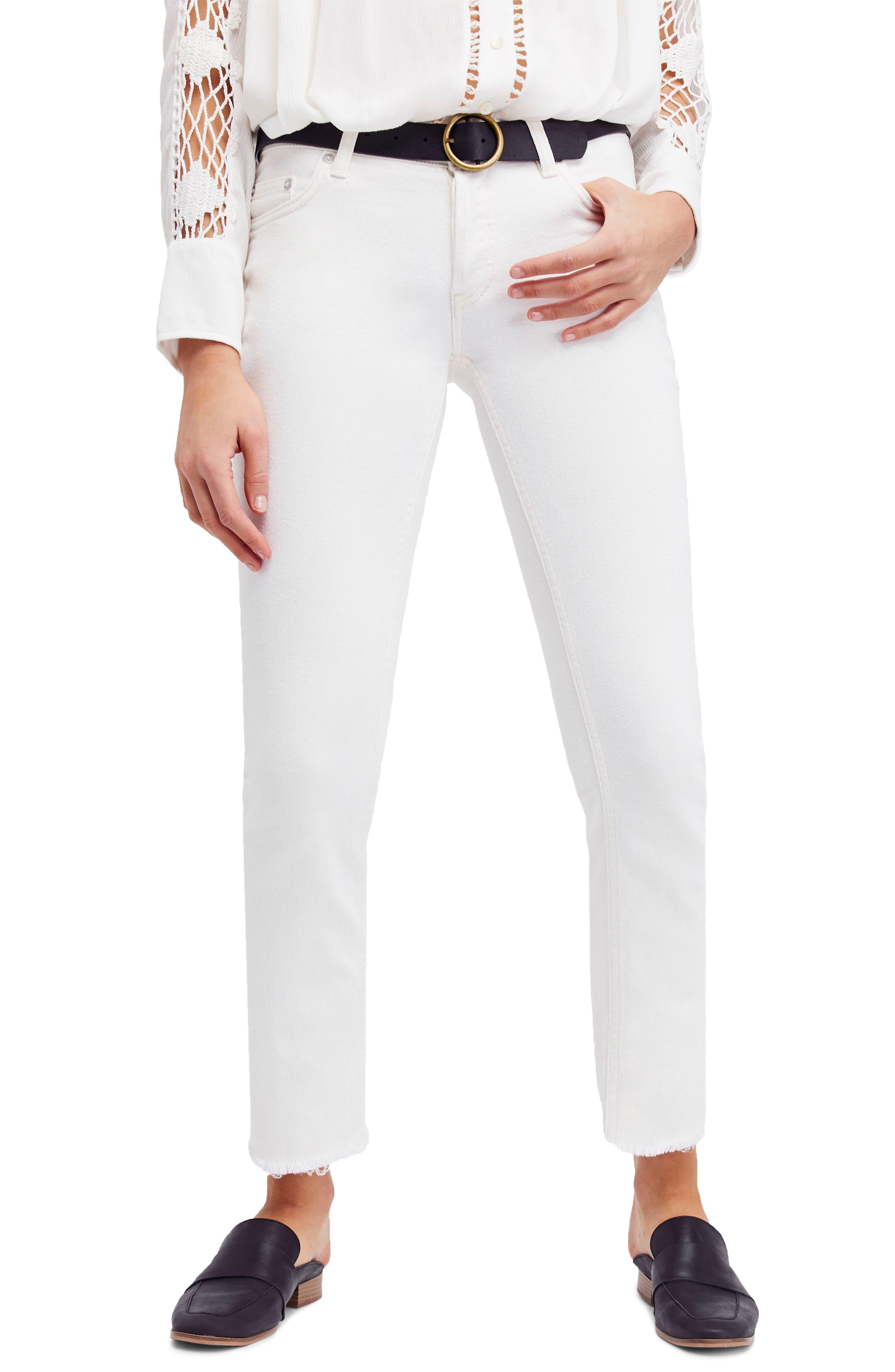 Austen Straight Leg Jeans,                             Main thumbnail 1, color,                             White