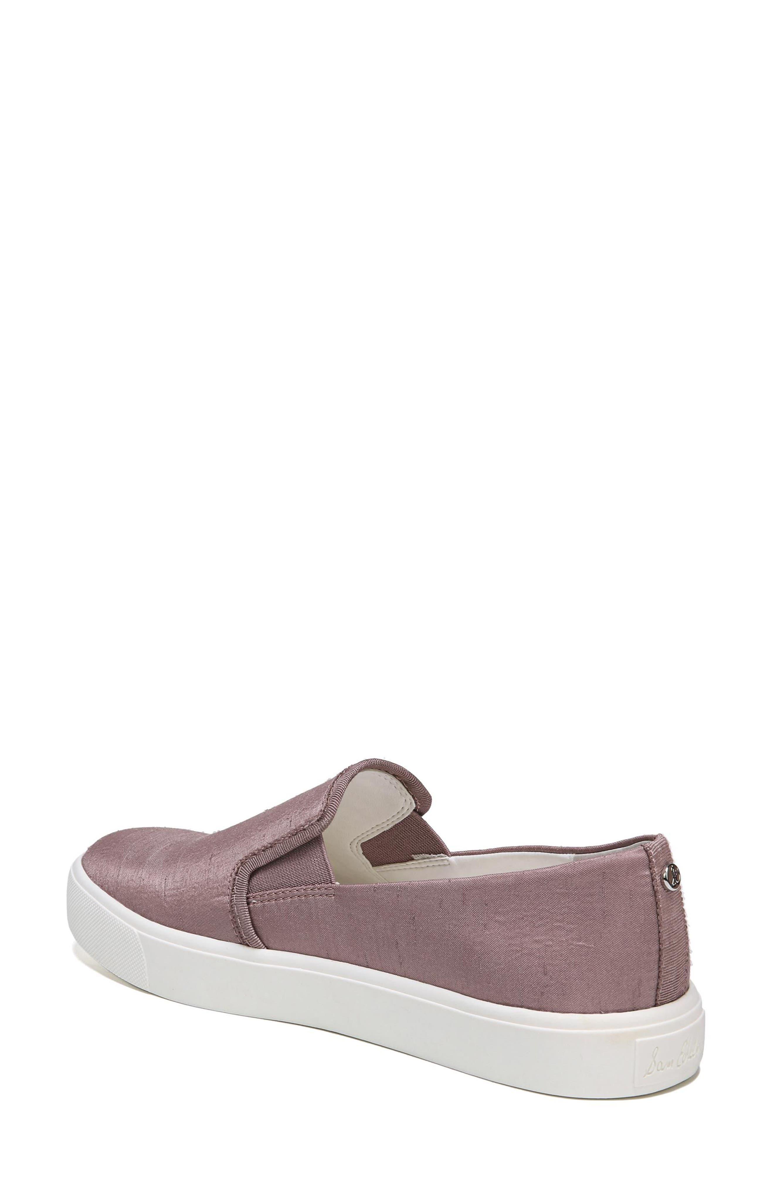 Elton Slip-On Sneaker,                             Alternate thumbnail 2, color,                             Pink Mauve Silk Fabric