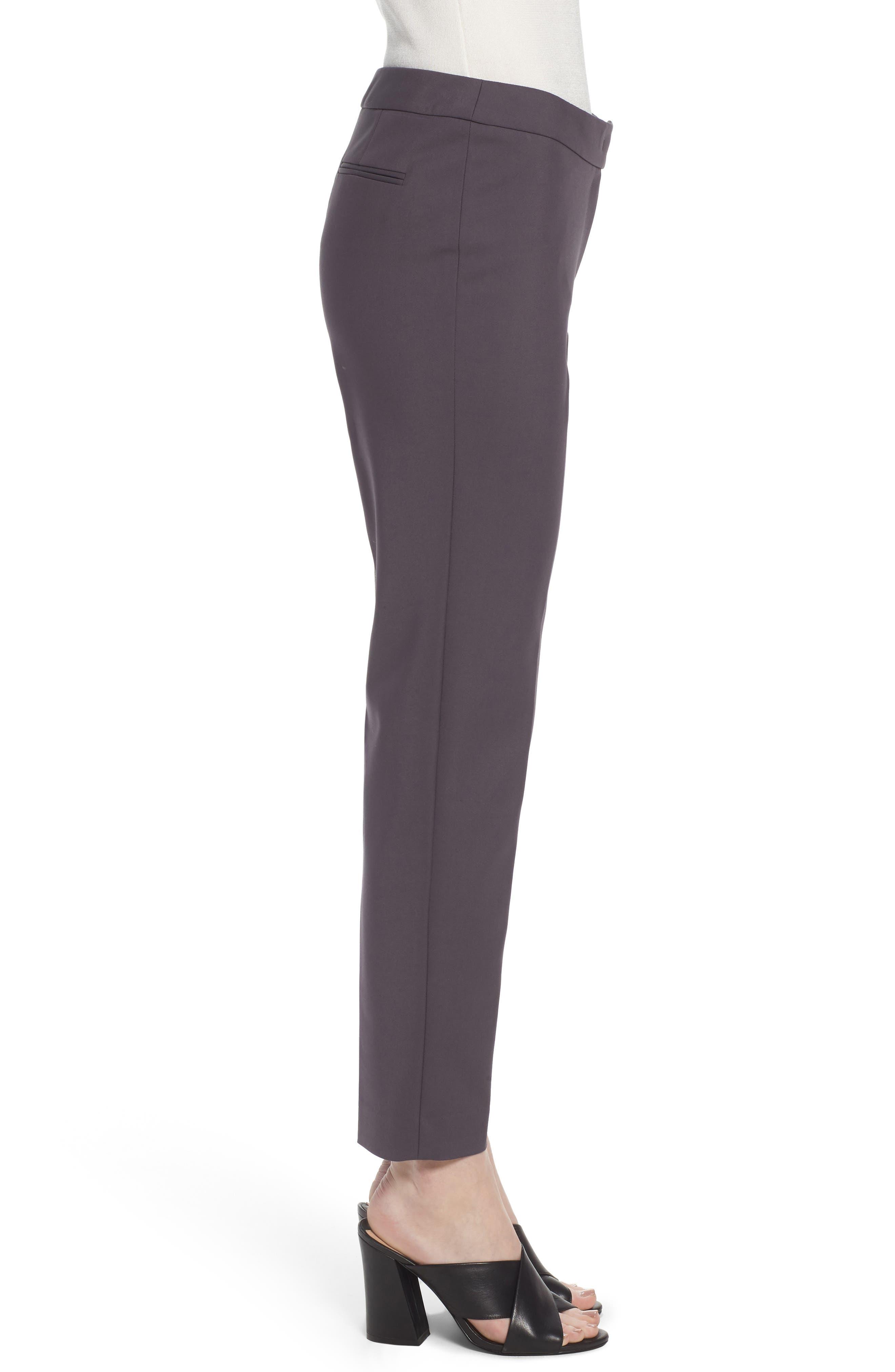 Slim Ankle Pants,                             Alternate thumbnail 3, color,                             Nantucket Grey