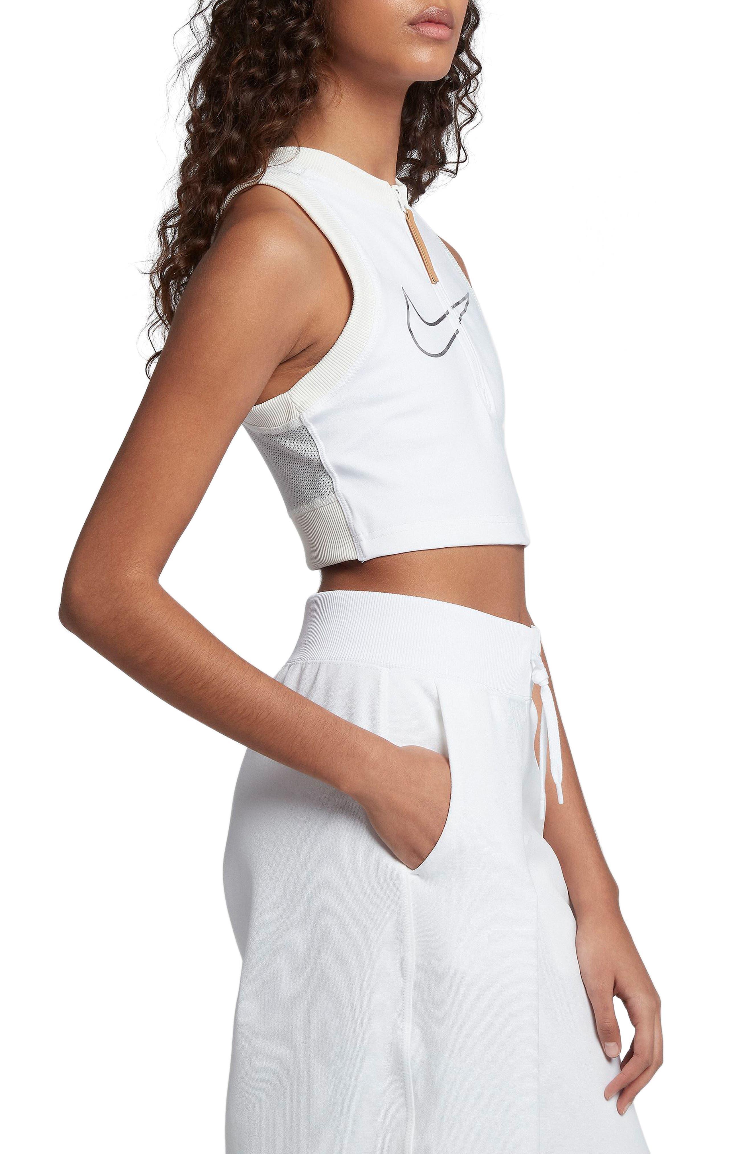 Sportswear Crop Top,                             Alternate thumbnail 3, color,                             White