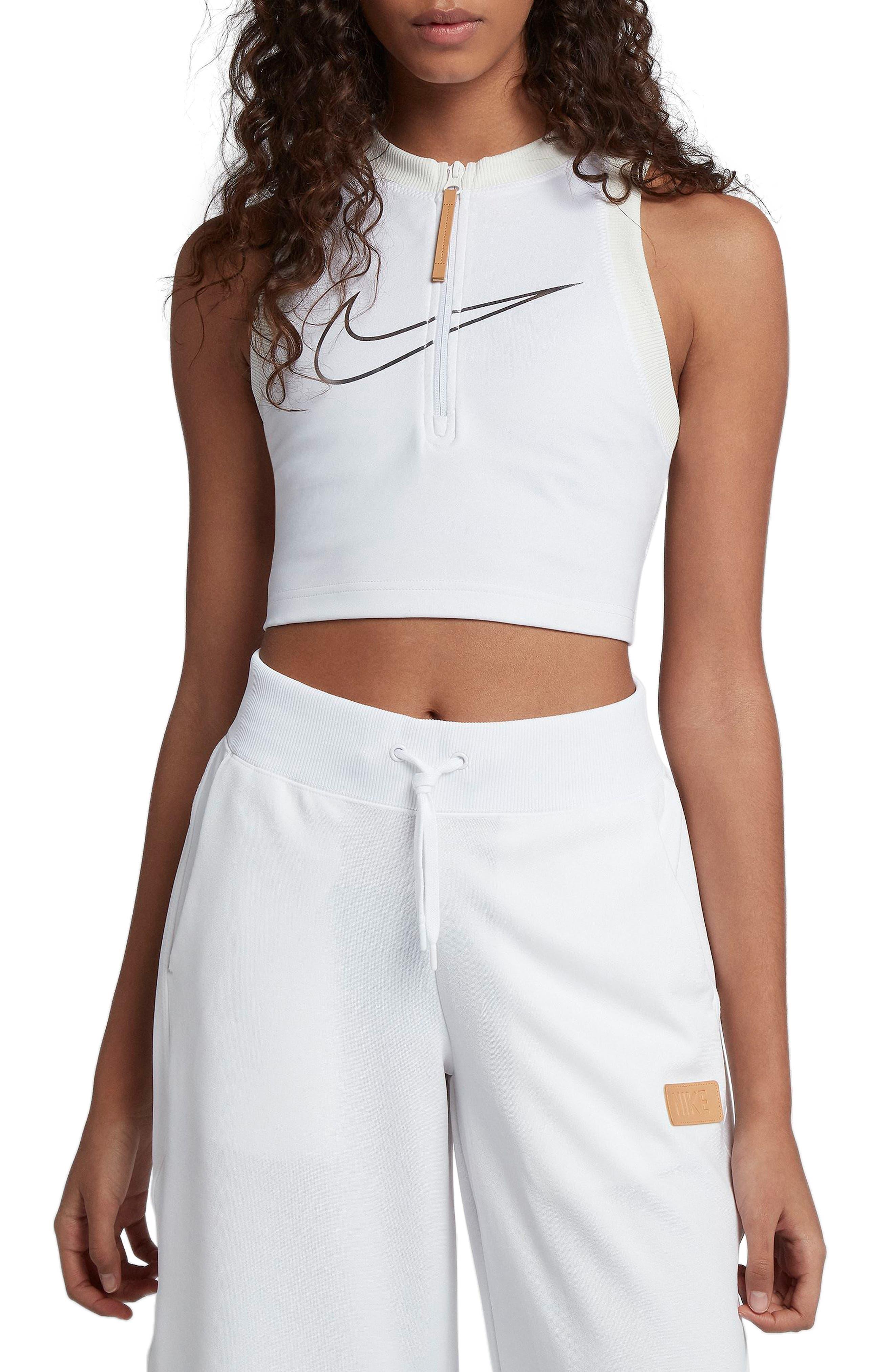 Sportswear Crop Top,                         Main,                         color, White