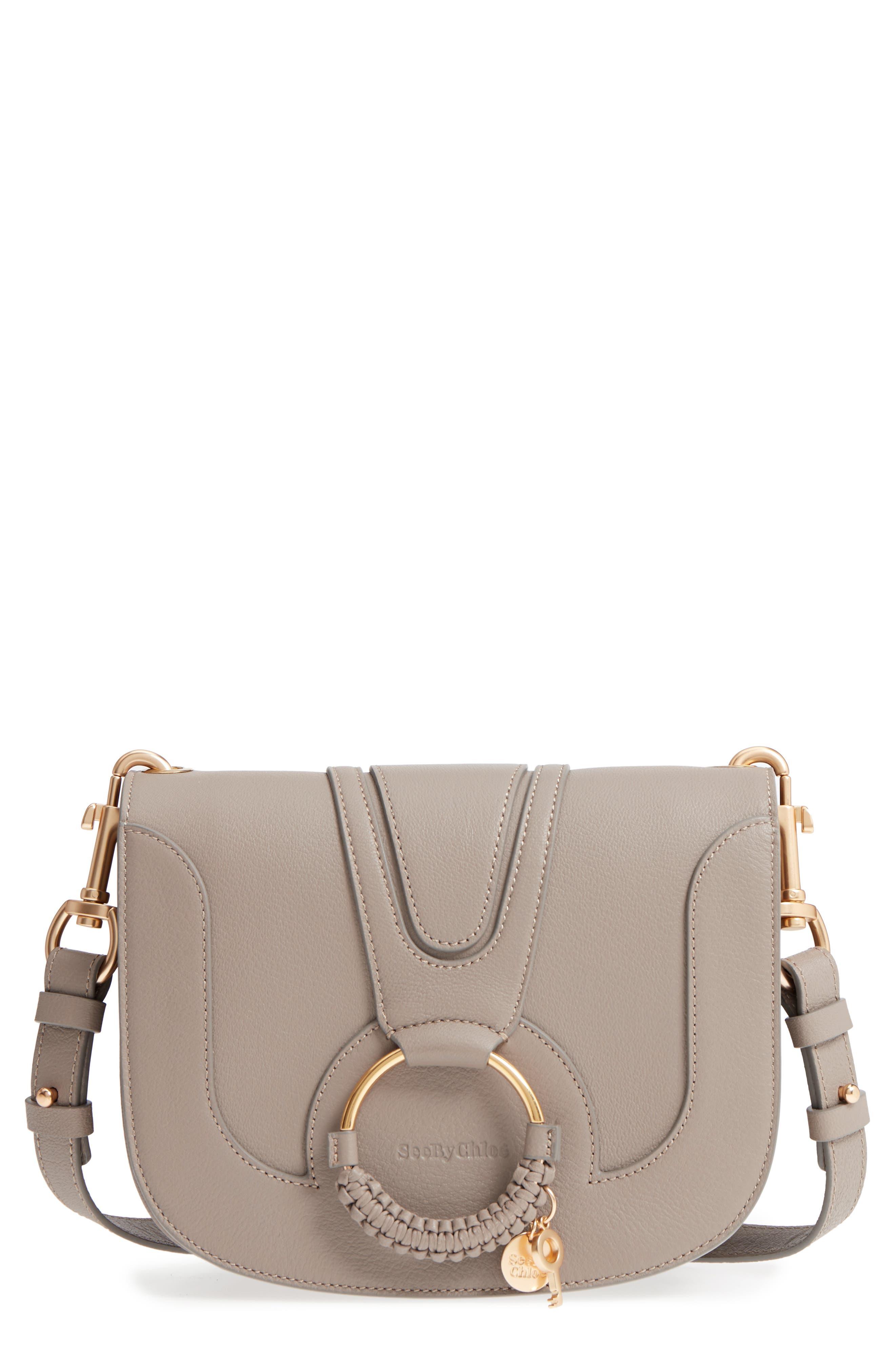 Hana Small Leather Crossbody Bag,                         Main,                         color, Motty Grey