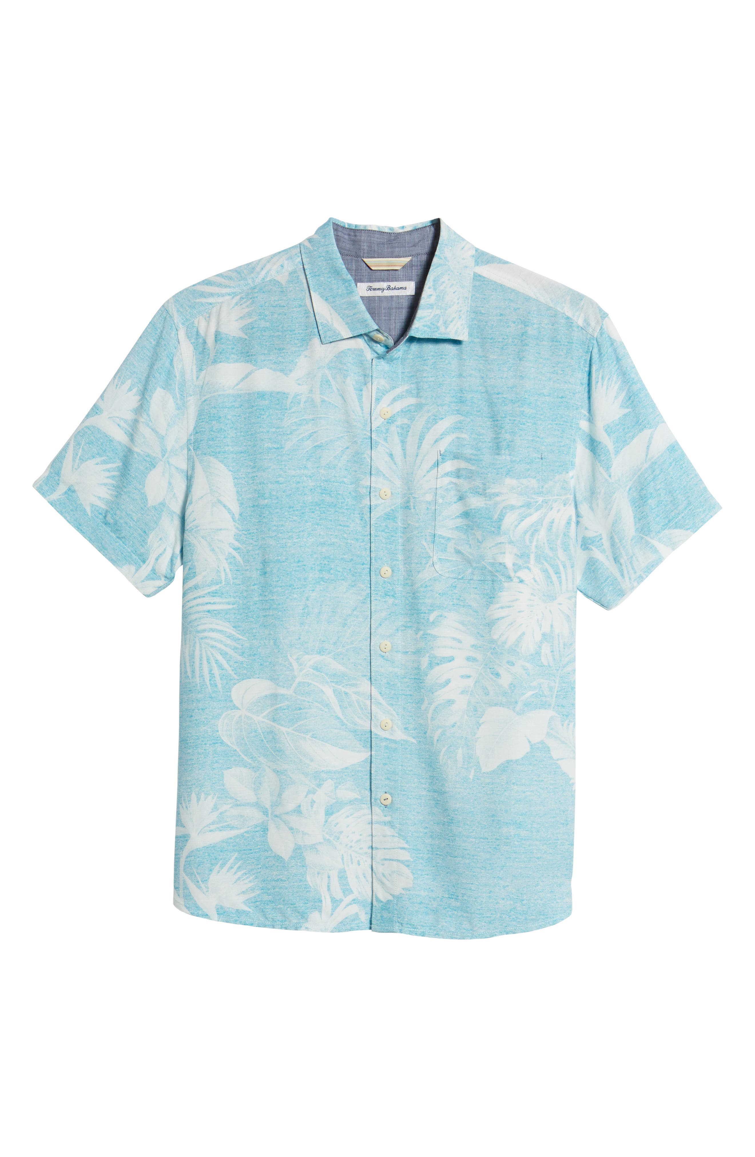 Grande Fronds Sport Shirt,                             Alternate thumbnail 6, color,                             Blue Radiance
