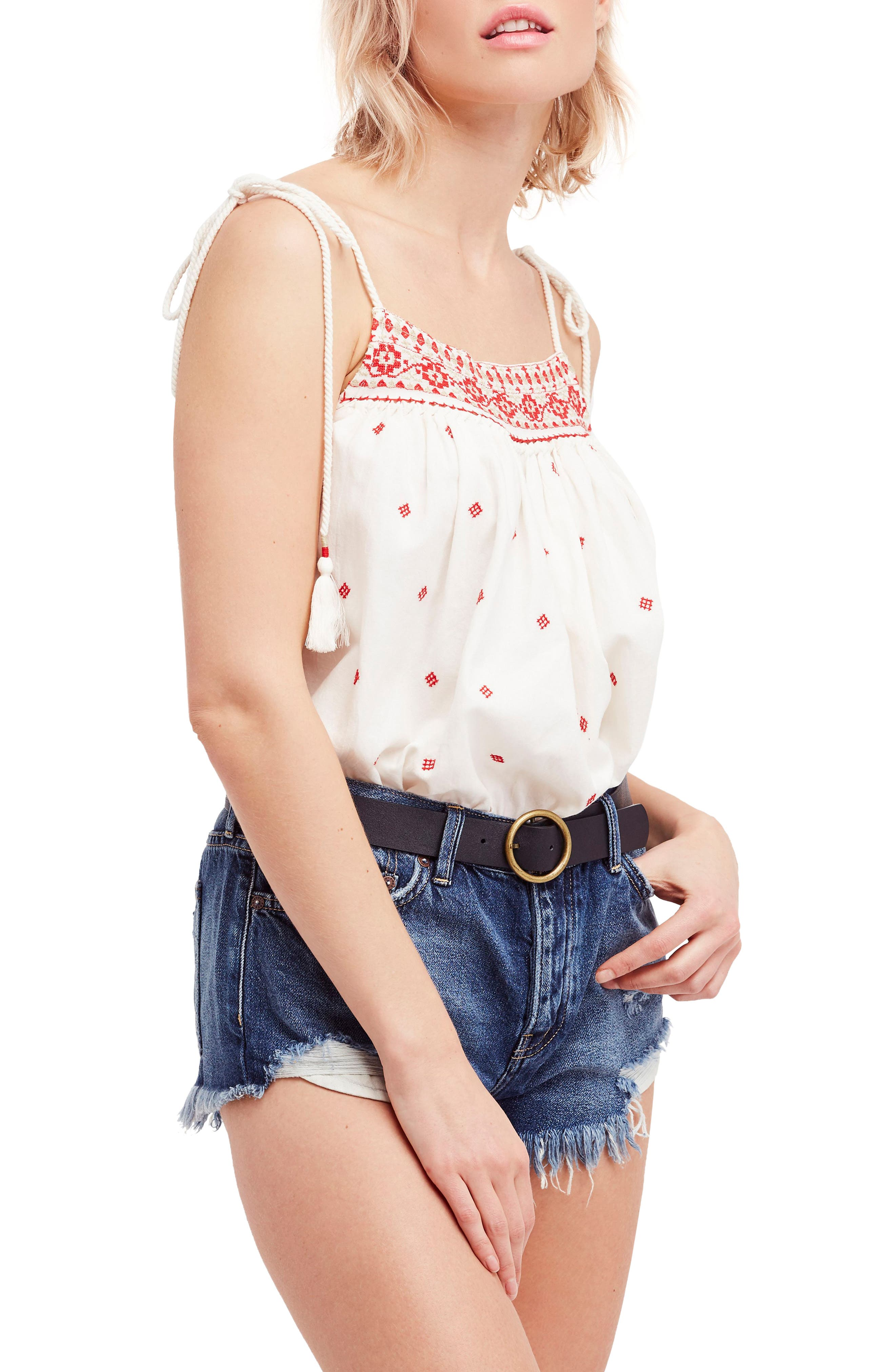 Eternal Love Embroidered Top,                             Main thumbnail 1, color,                             Ivory