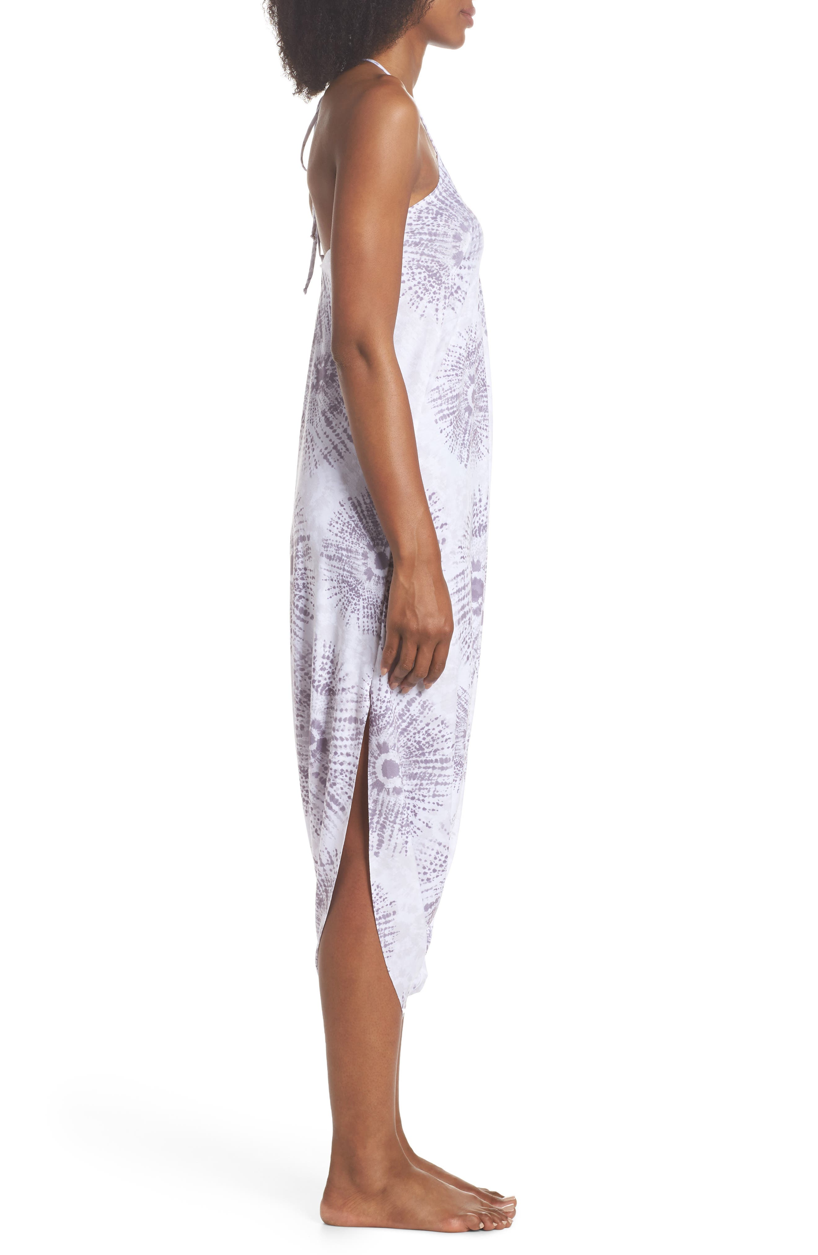 Tica Cover-Up Halter Jumpsuit,                             Alternate thumbnail 3, color,                             Gray