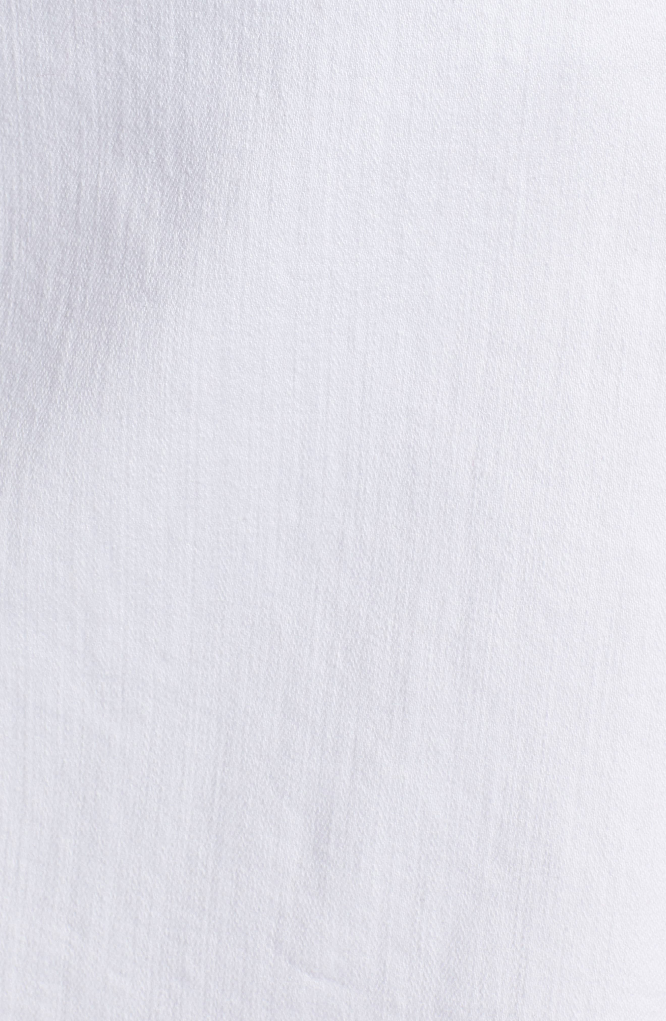 Sailor Button White Denim Skirt,                             Alternate thumbnail 6, color,                             White