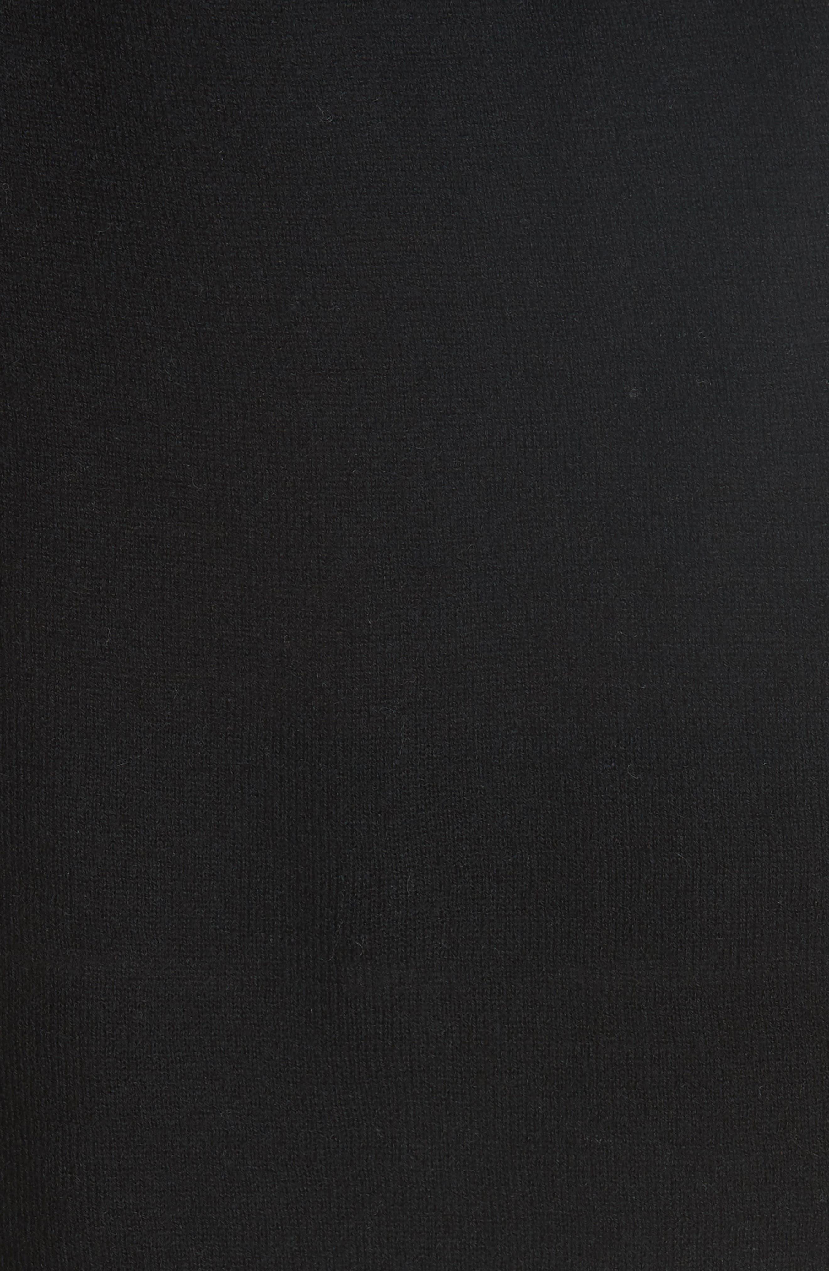 Cinched Back Cashmere Sweater,                             Alternate thumbnail 5, color,                             Black