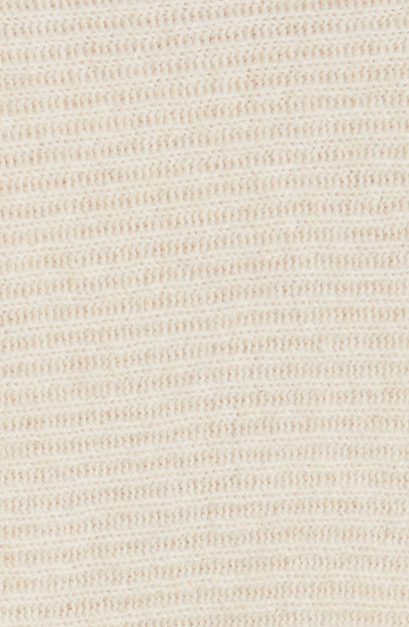 Drape Front Wool & Cashmere Cardigan,                             Alternate thumbnail 3, color,                             Sand