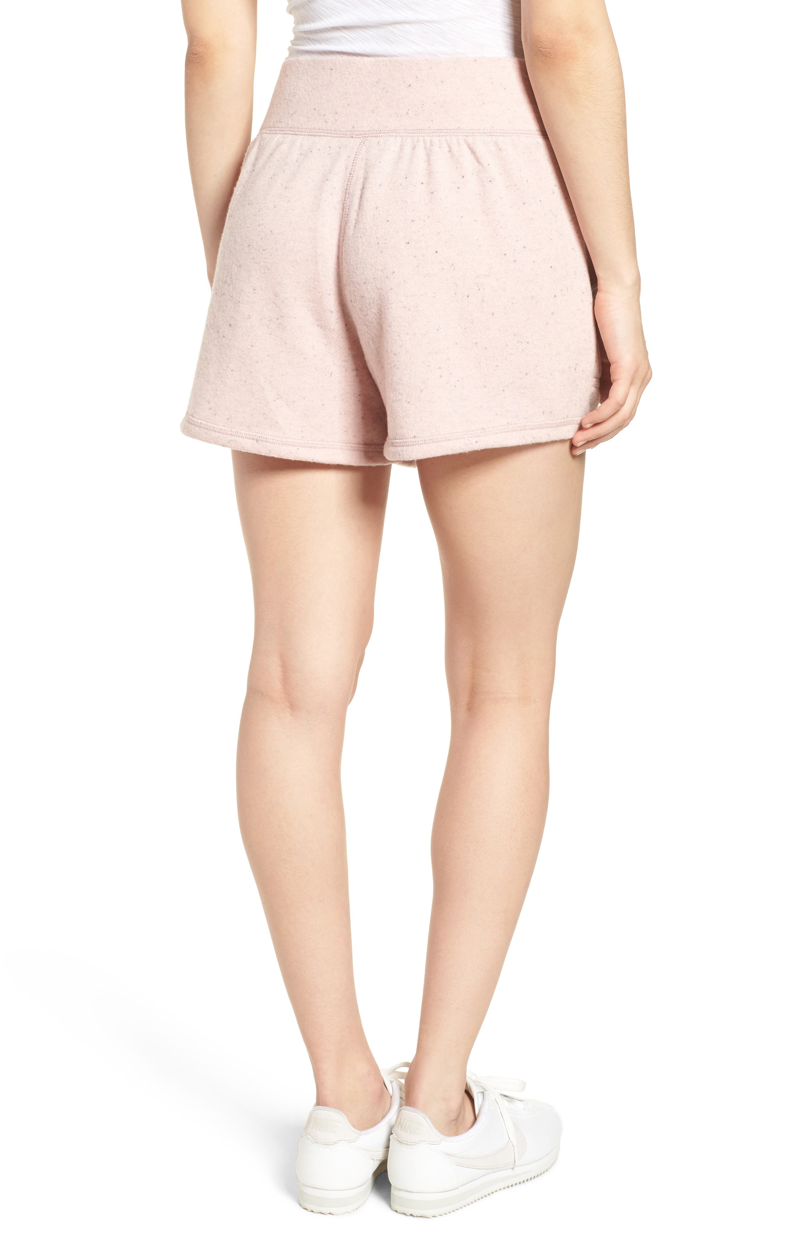 Off-Duty French Terry Shorts,                             Alternate thumbnail 2, color,                             Pink Smoke