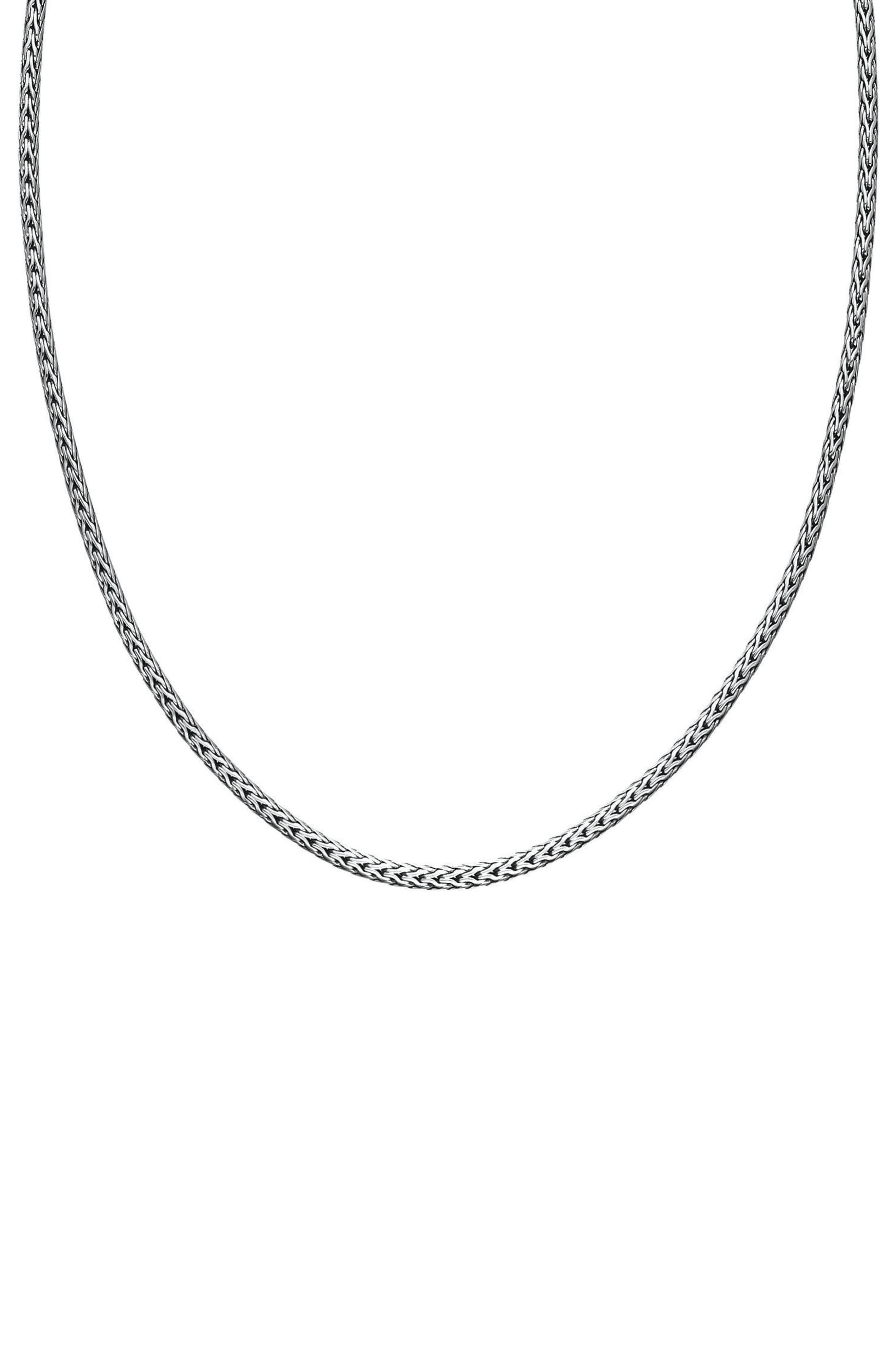Chain Necklace,                         Main,                         color, Silver