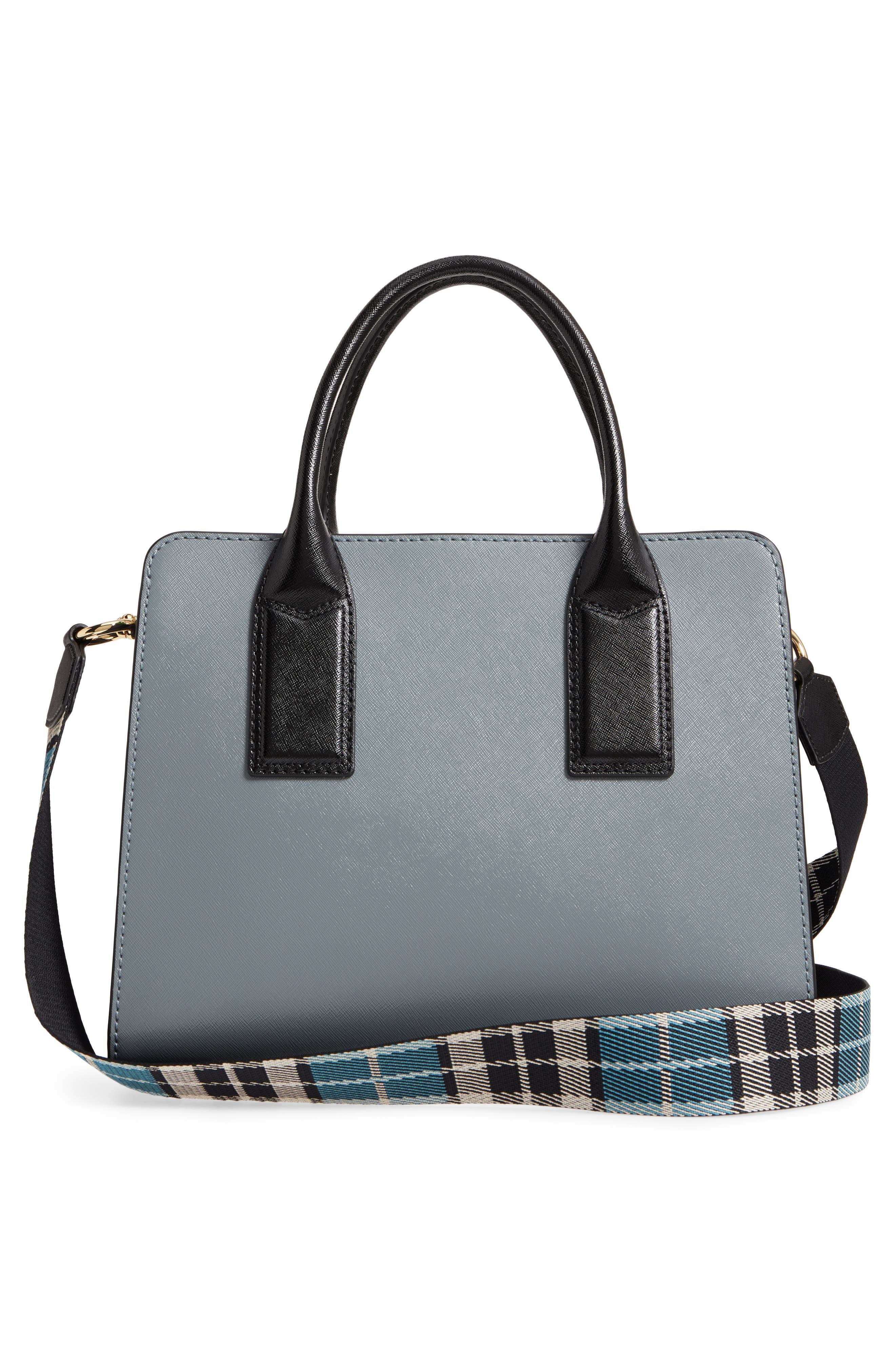 Big Shot Leather Tote,                             Alternate thumbnail 3, color,                             Slate Multi