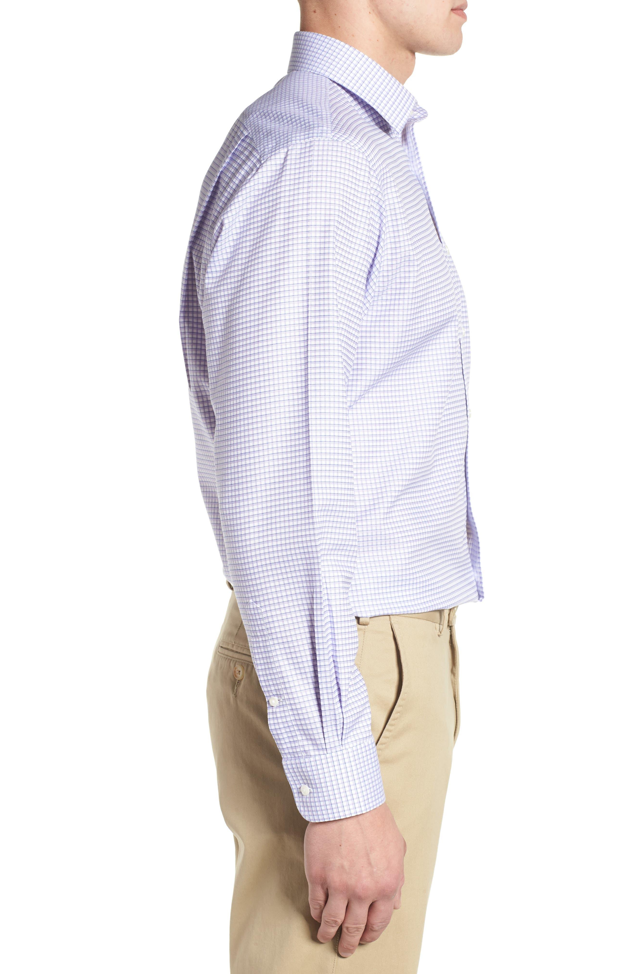 Smartcare<sup>™</sup> Traditional Fit Check Sport Shirt,                             Alternate thumbnail 4, color,                             Purple Dahlia