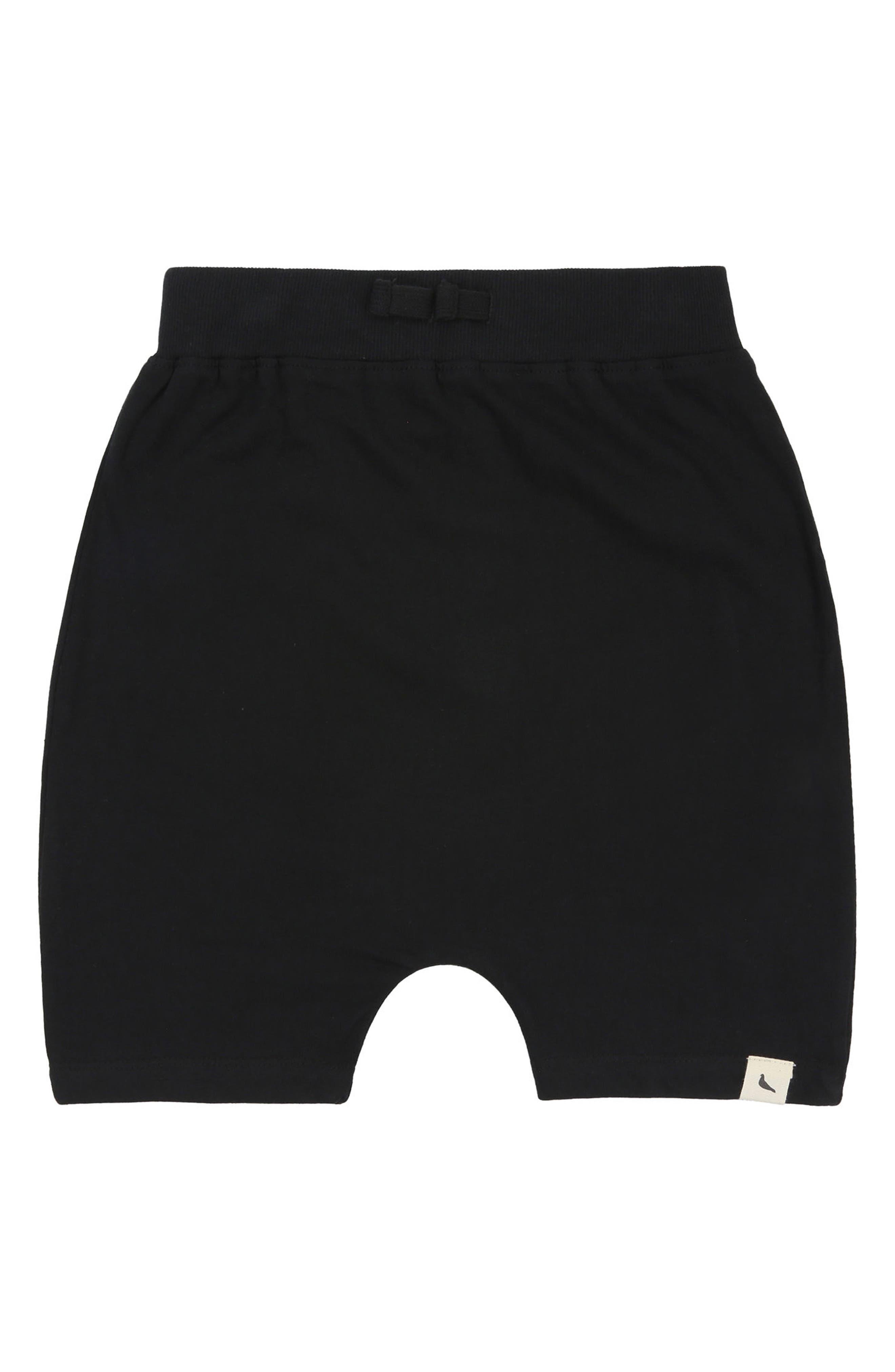Drop Organic Cotton Shorts,                             Alternate thumbnail 2, color,                             Black