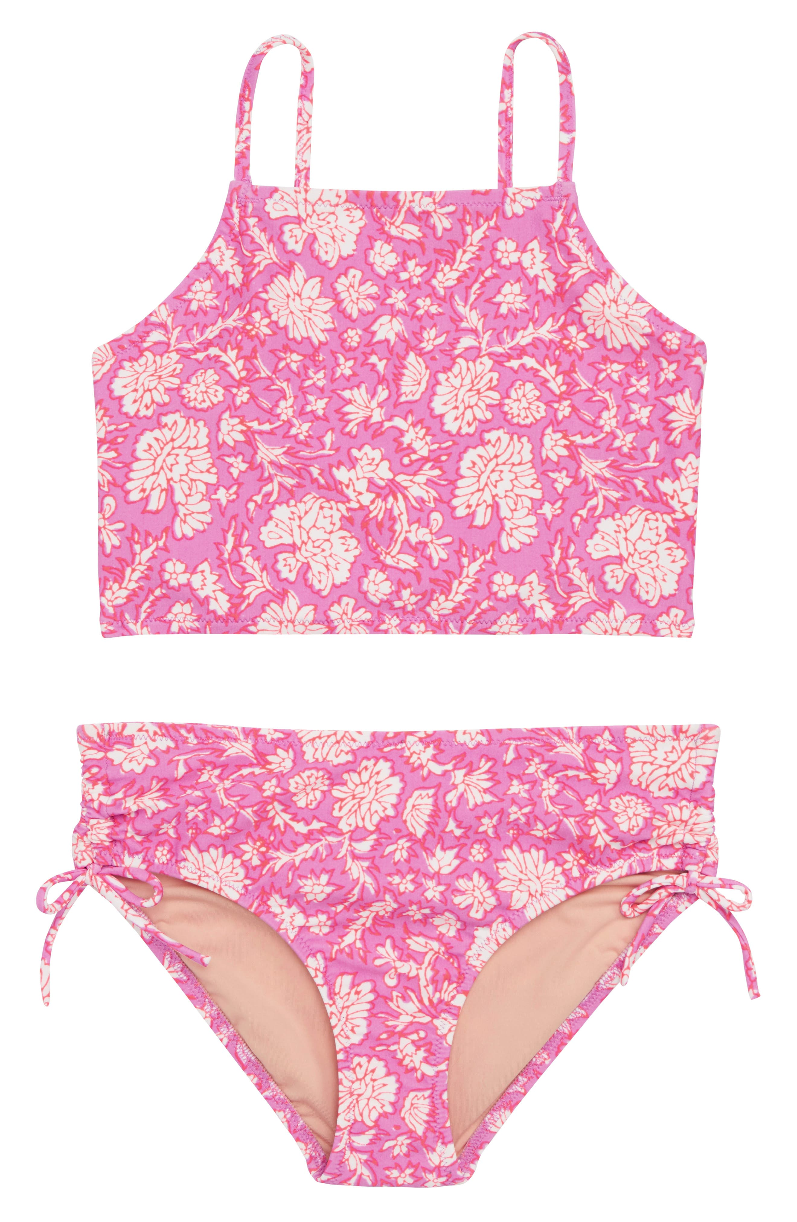 SZ Blockprints<sup>™</sup> Two-Piece Tankini Swimsuit,                         Main,                         color, Ivory Lavender Multi