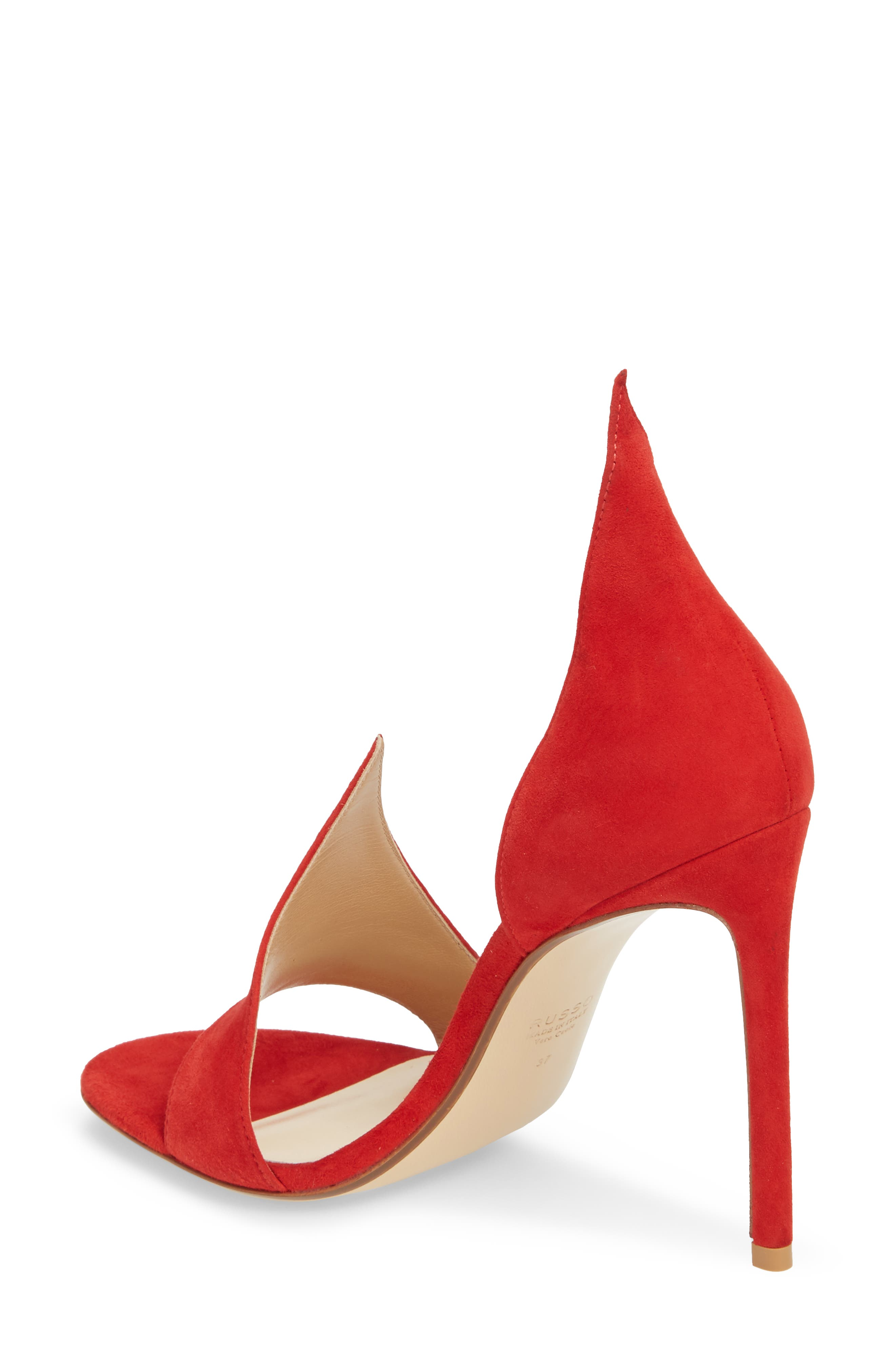 Flame Sandal,                             Alternate thumbnail 2, color,                             Red Suede
