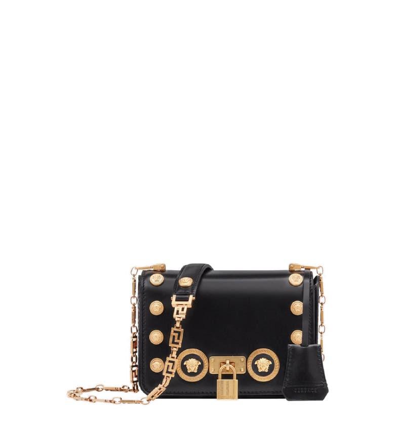 b4d1da5a59b Versace Icon Studded Leather Crossbody Bag - Black In Nero ...